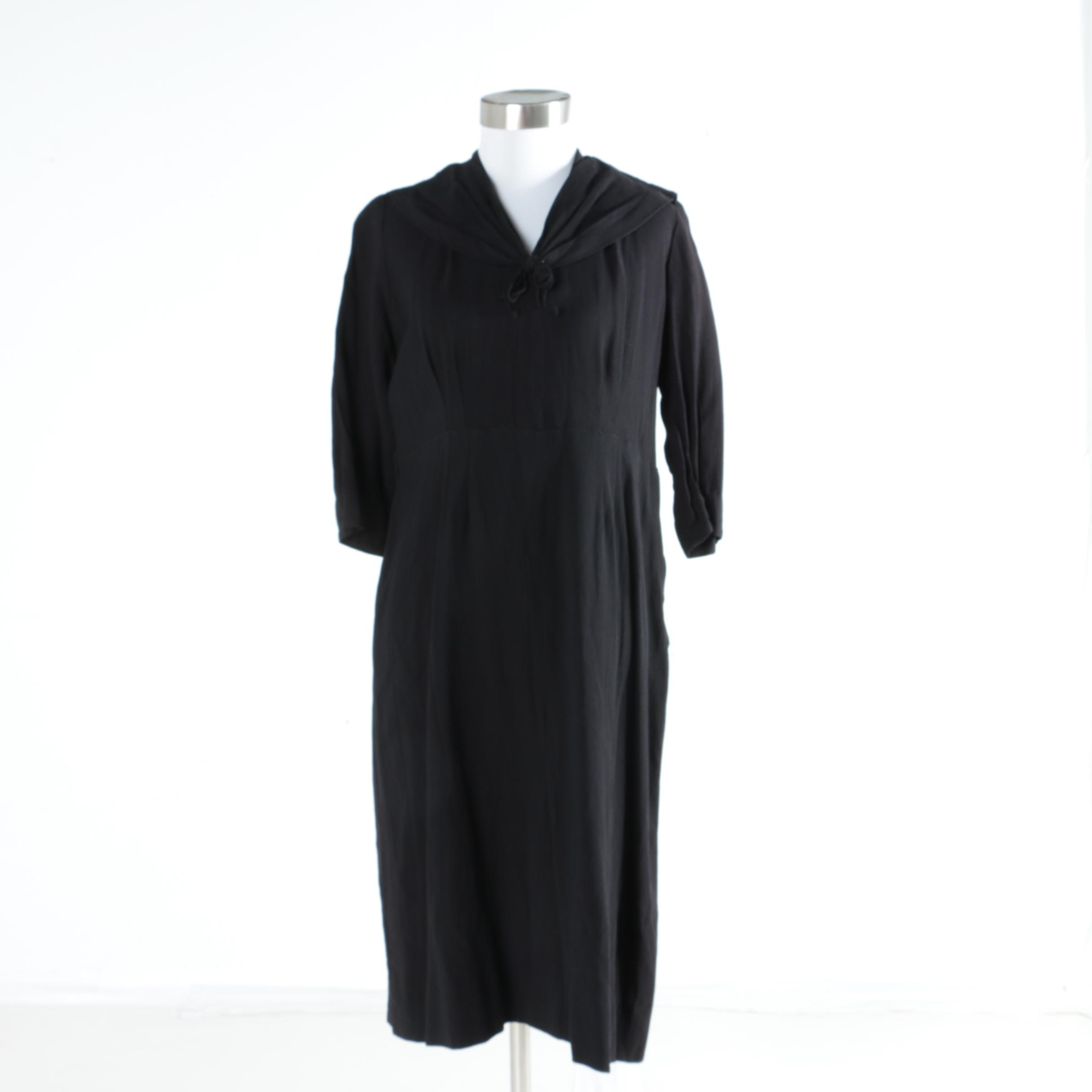 Women's Vintage Black Dress