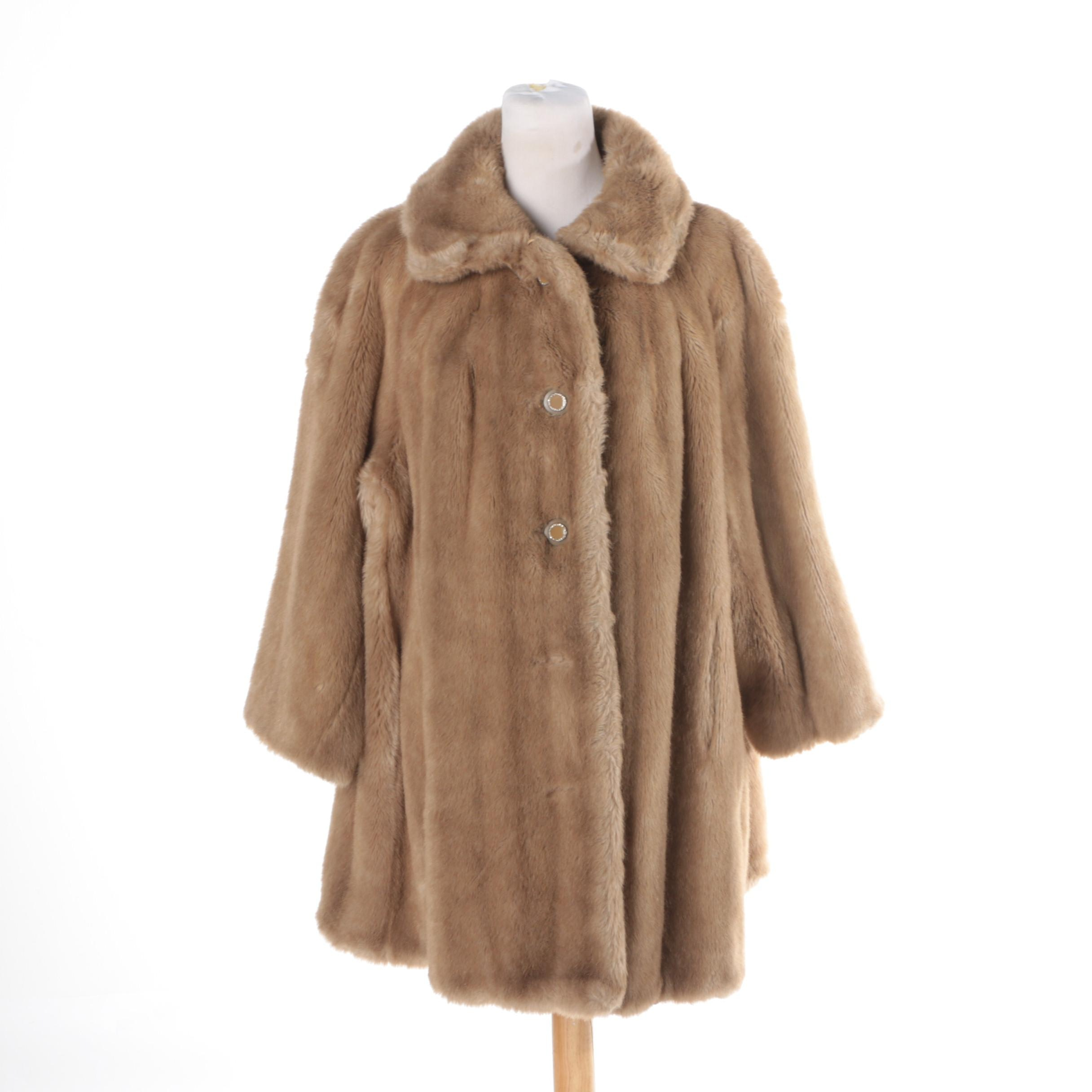 Vintage Jacobson's Faux Fur Coat