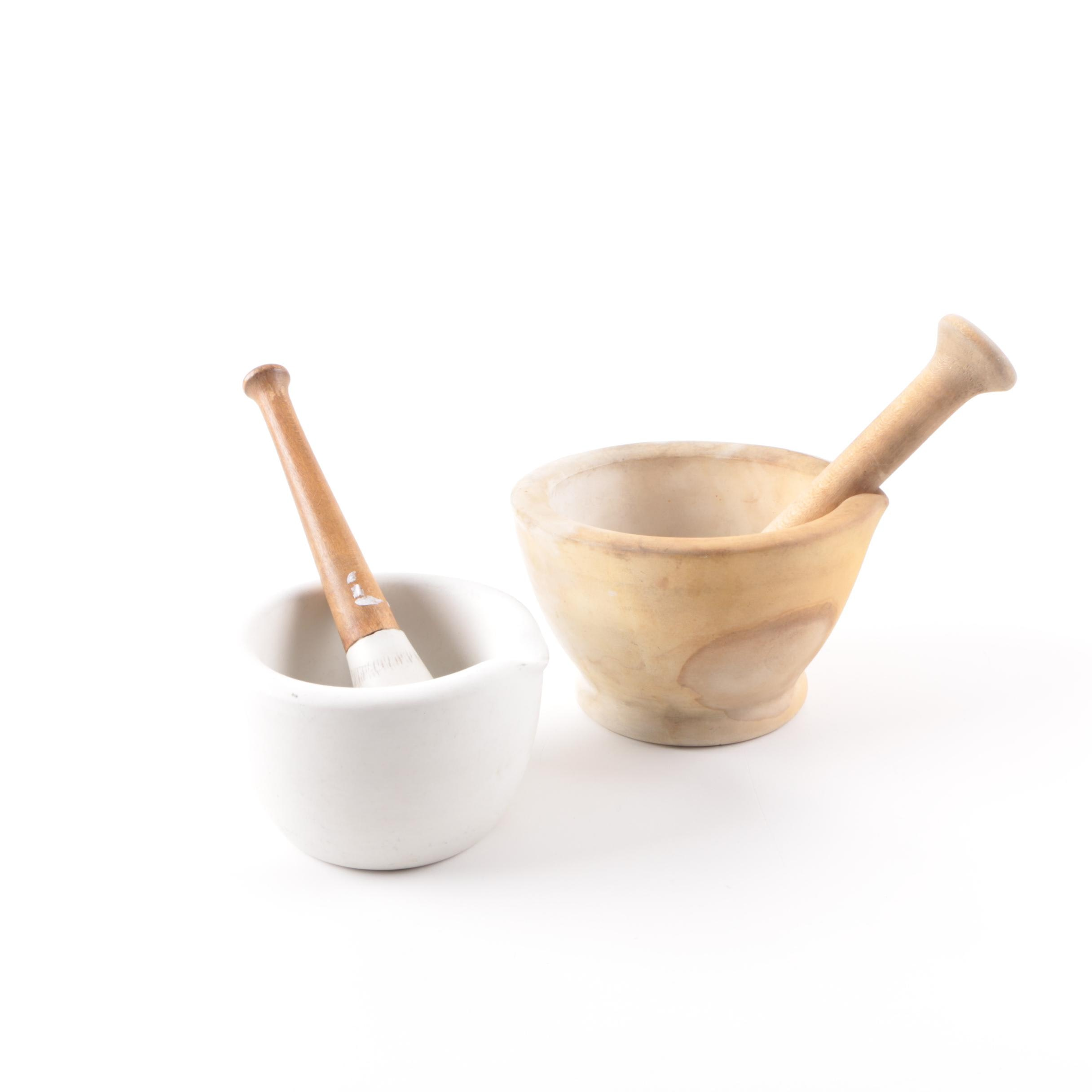 Vintage Mortars with Pestles