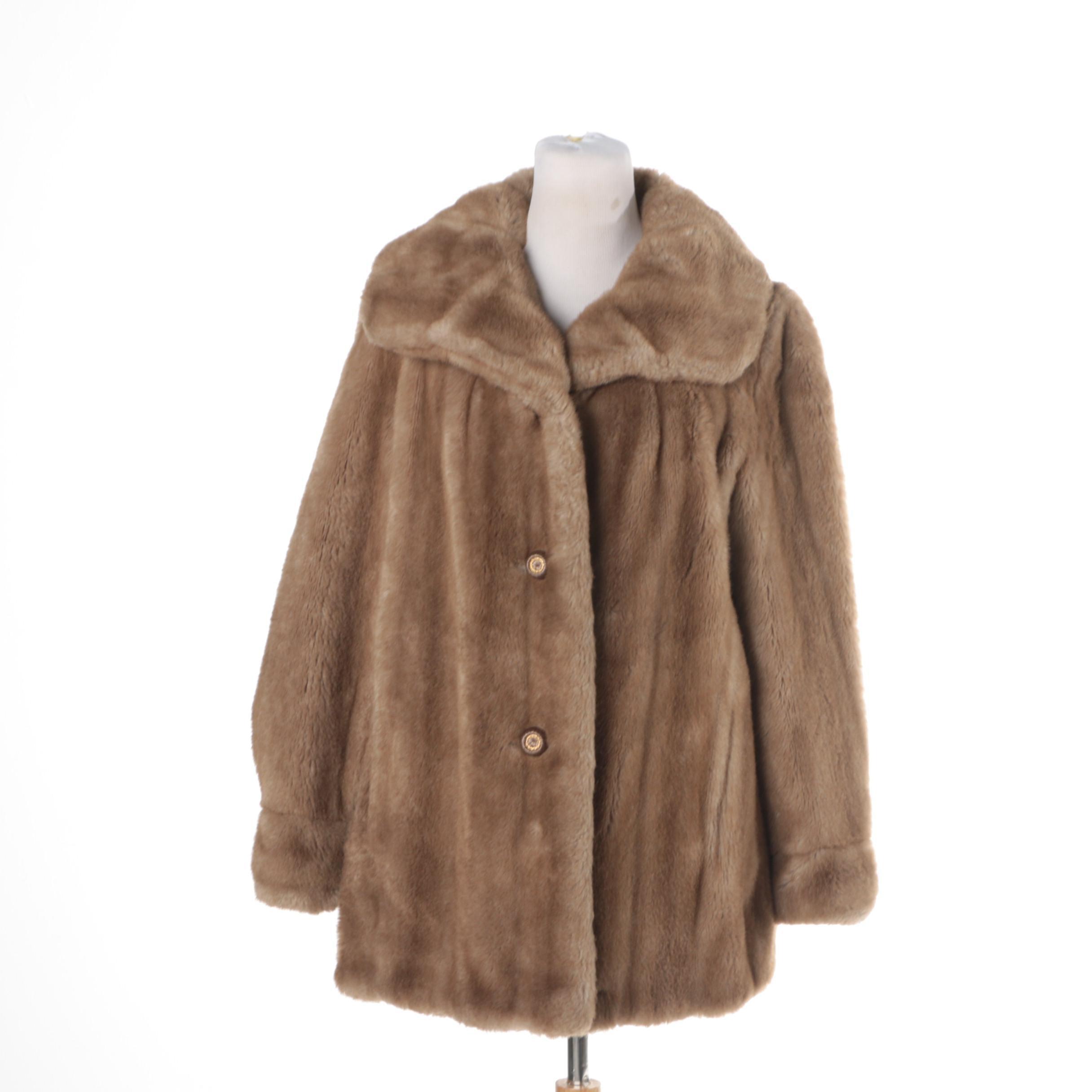 Women's Vintage Grandella Faux Fur Coat