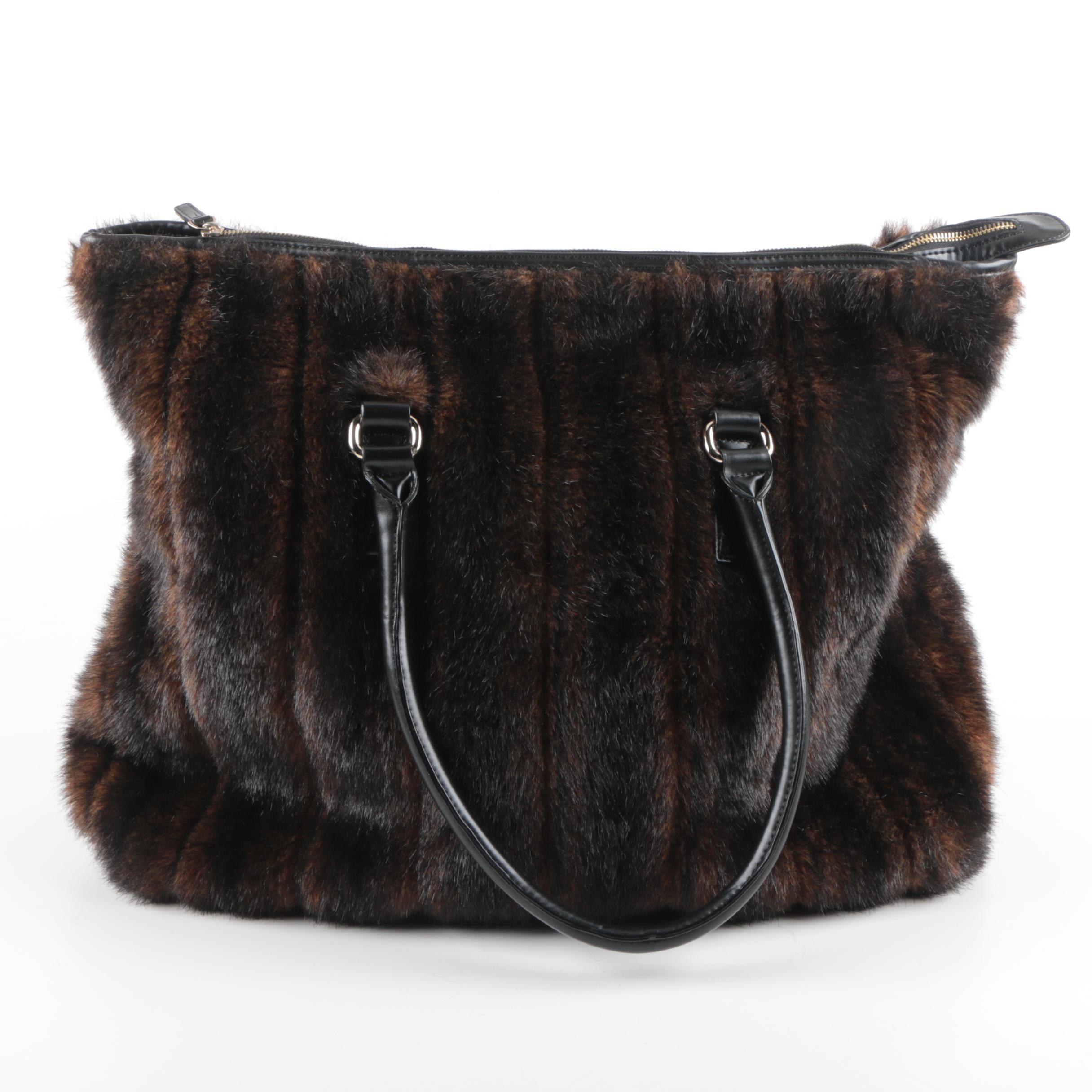 Tama Faux Fur Tote Handbag
