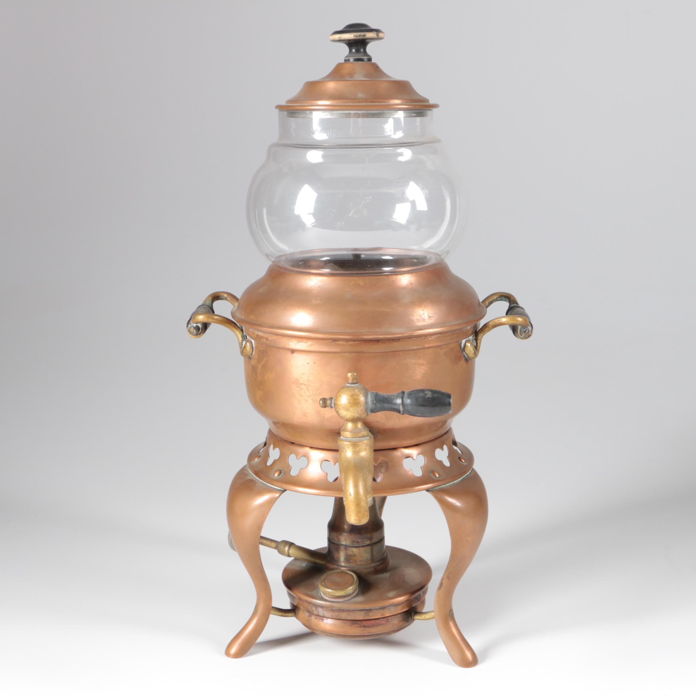 Antique Sternau & Co. Copper Coffee Machine