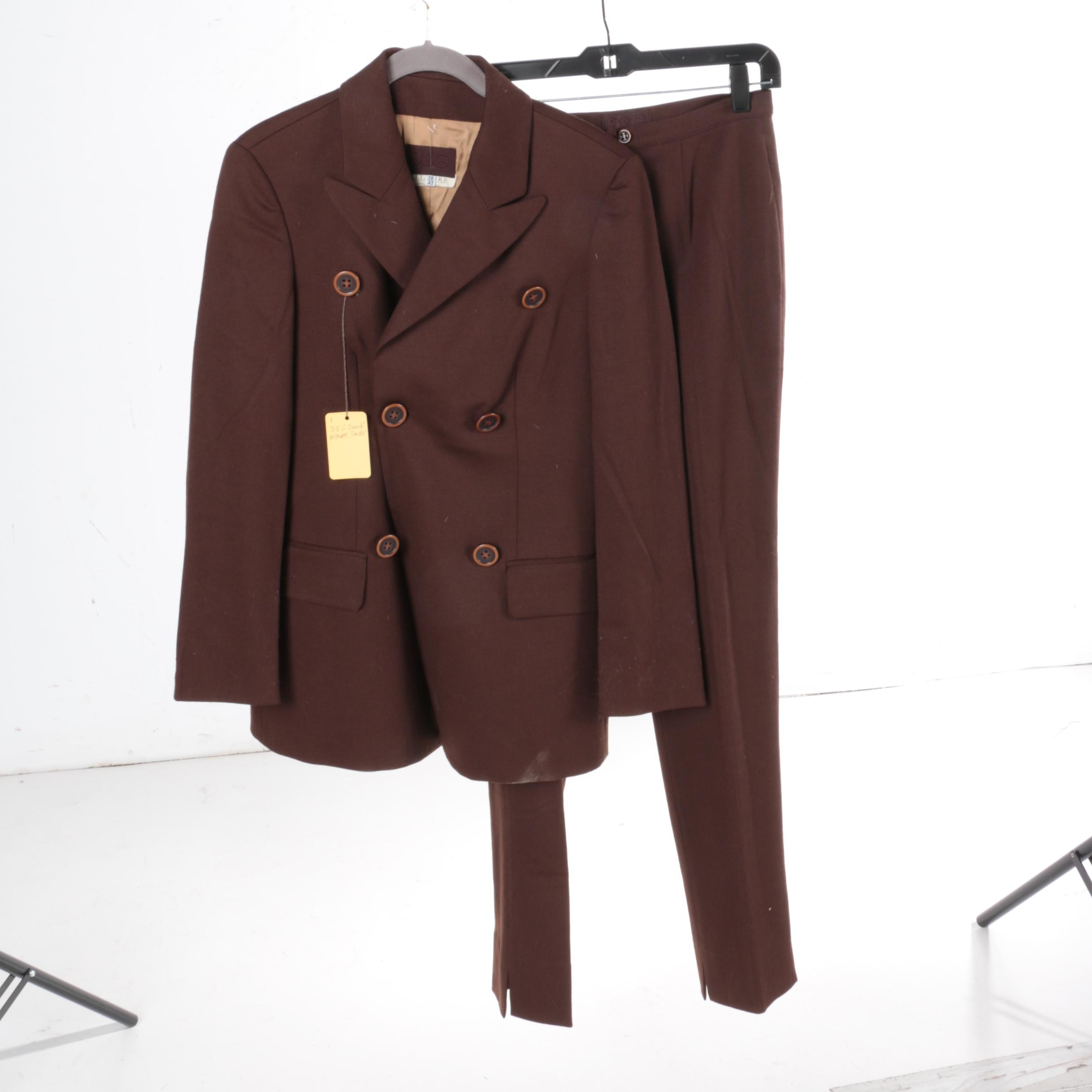 Women's D&G Double-Breasted Pant Suit