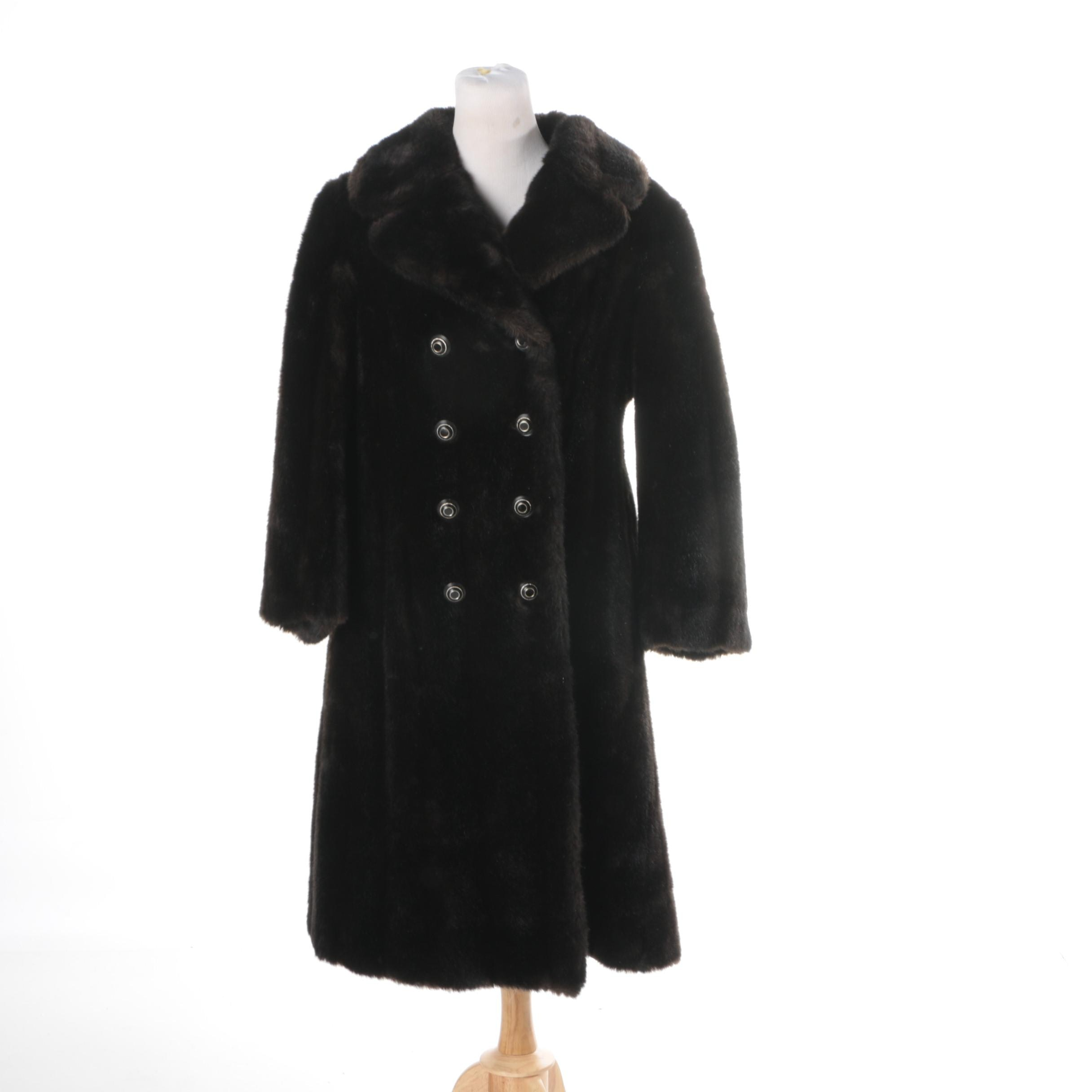 Women's Vintage Faux Fur Coat