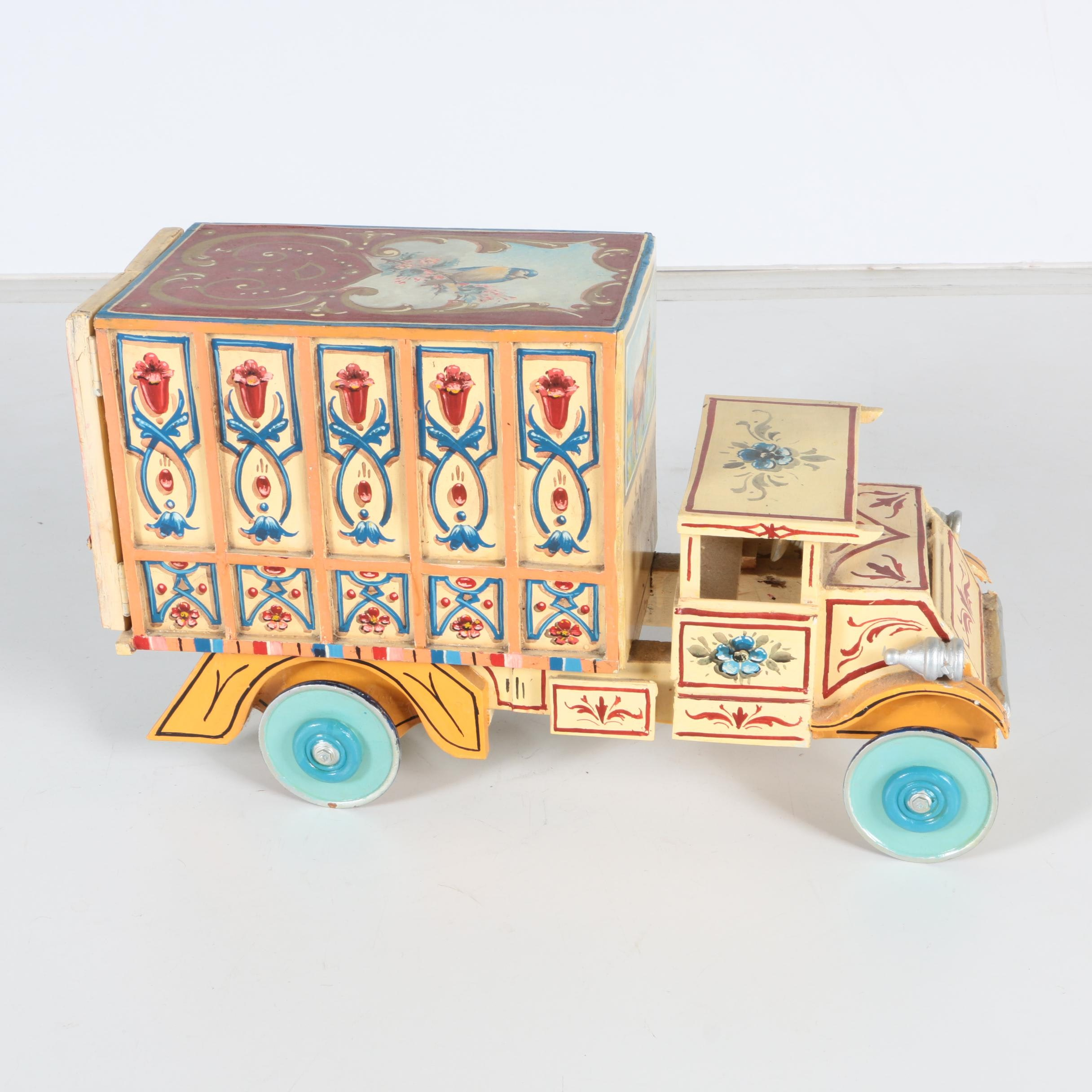 Hand Crafted Wooden Delivery Truck