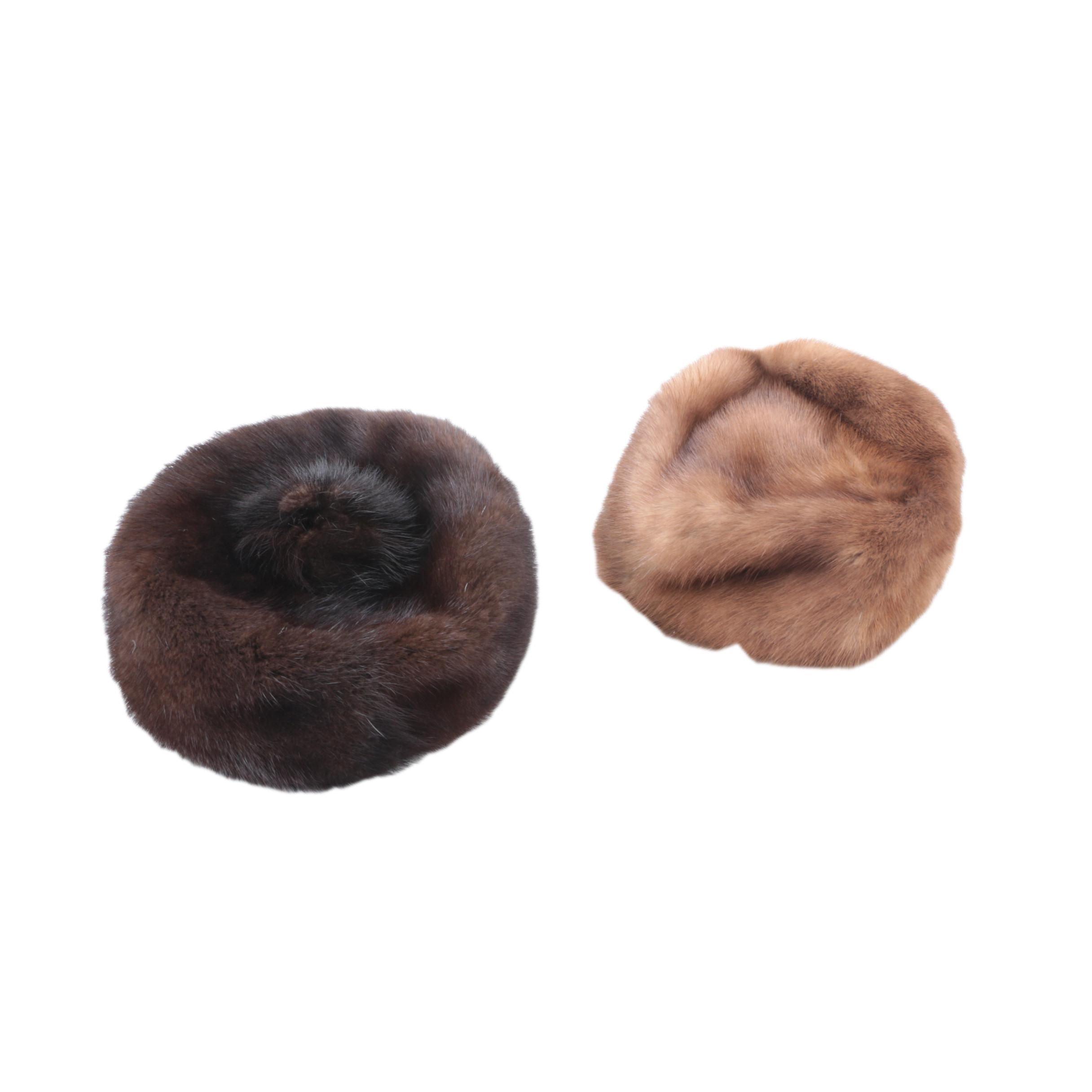 Two Mink Fur Hats
