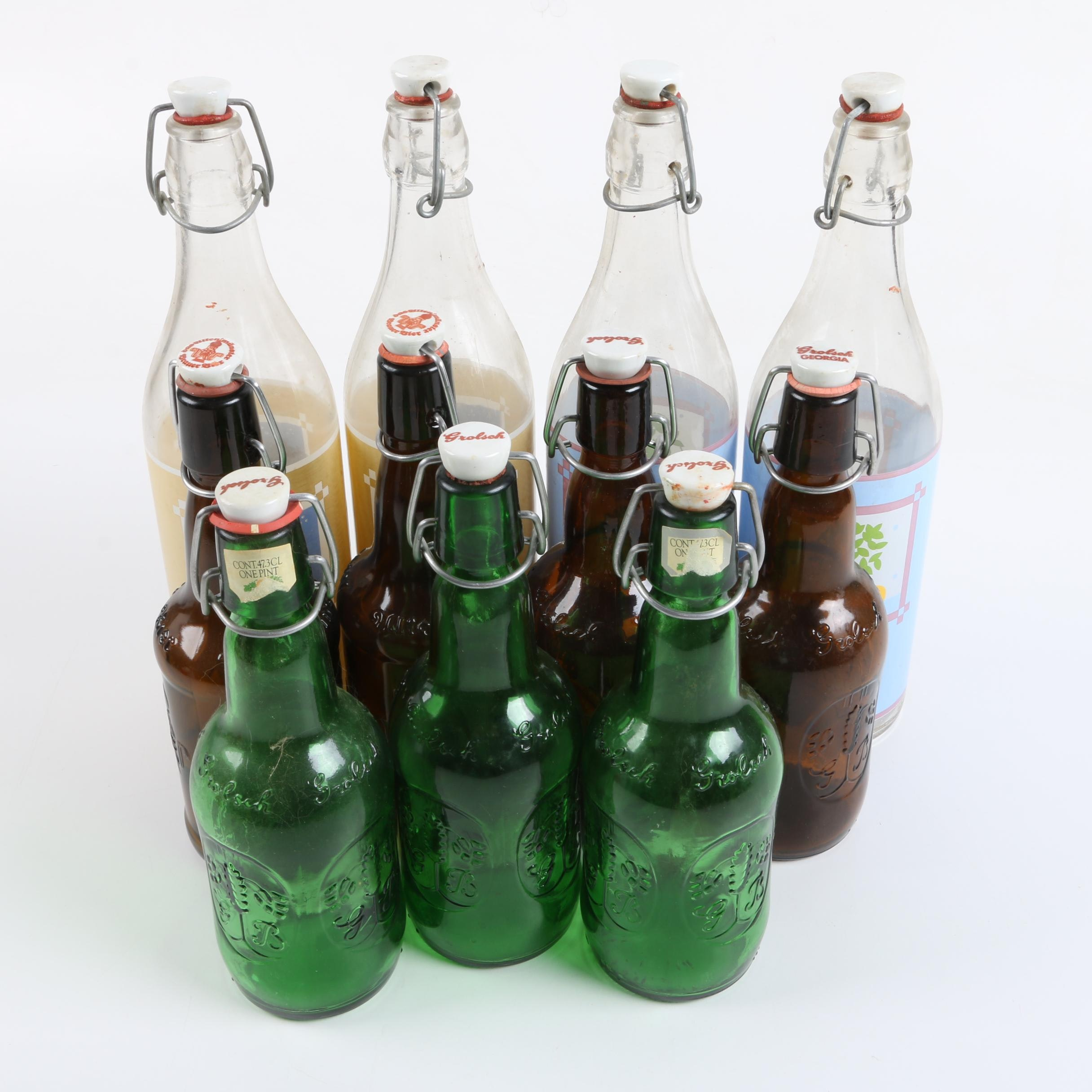 Grolsch and Other Beer and Italian Iced Tea Bottles
