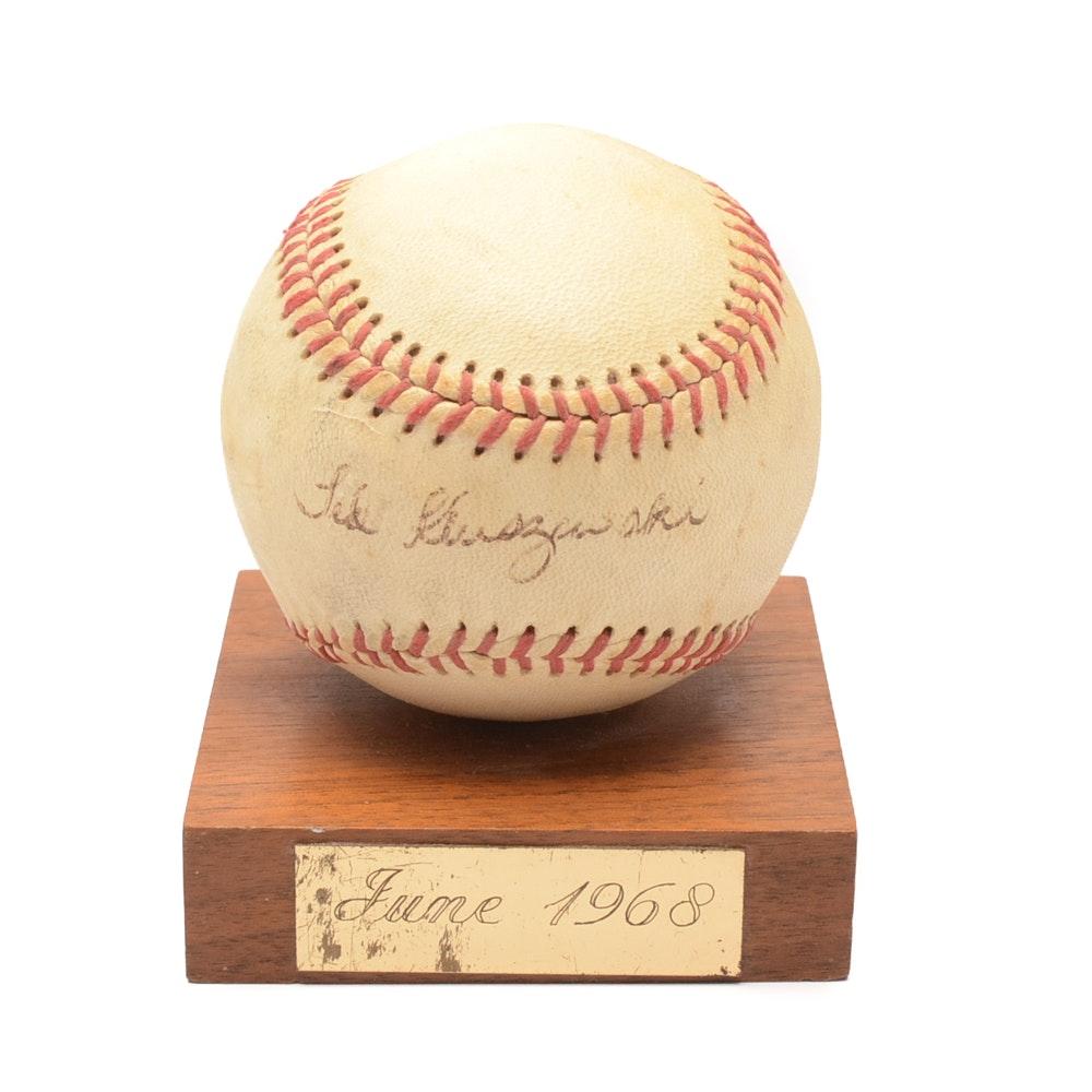 Ted Kluszewski Autographed Baseball With JSA Full Letter COA