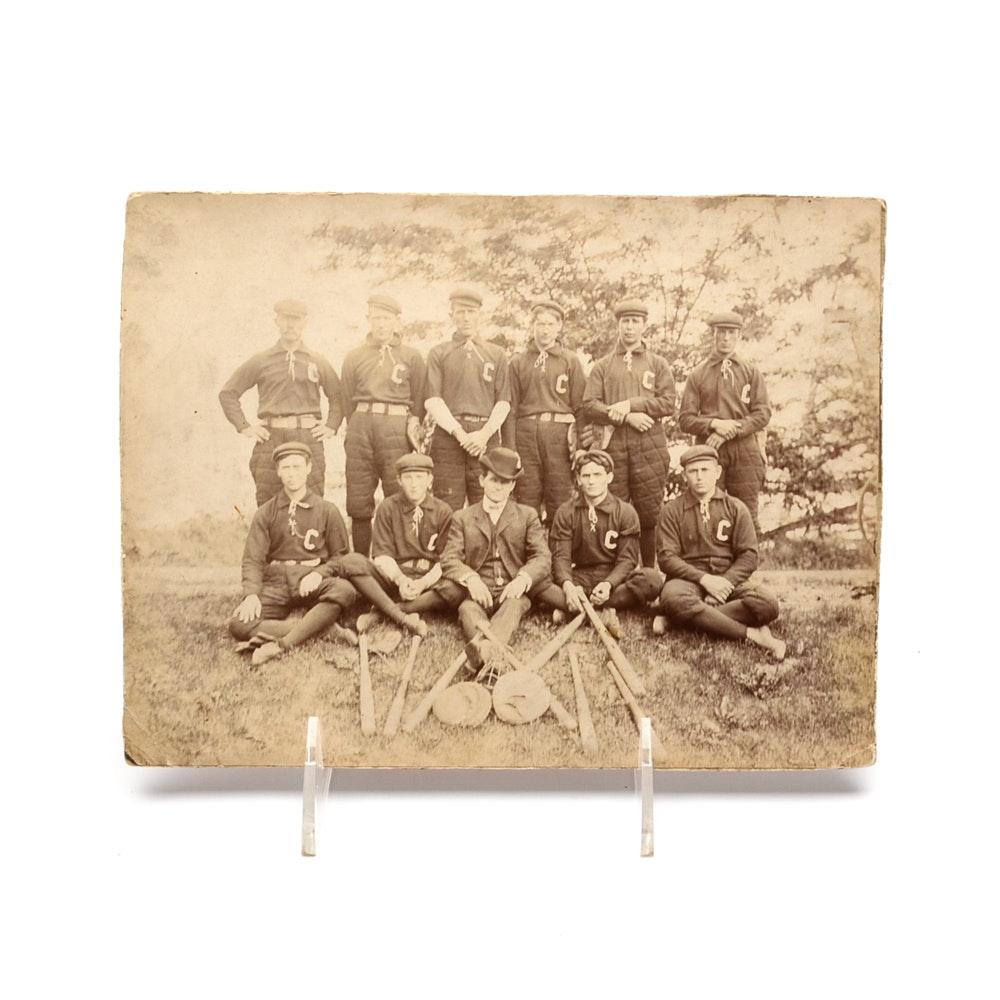 Antique Baseball Team Photograph