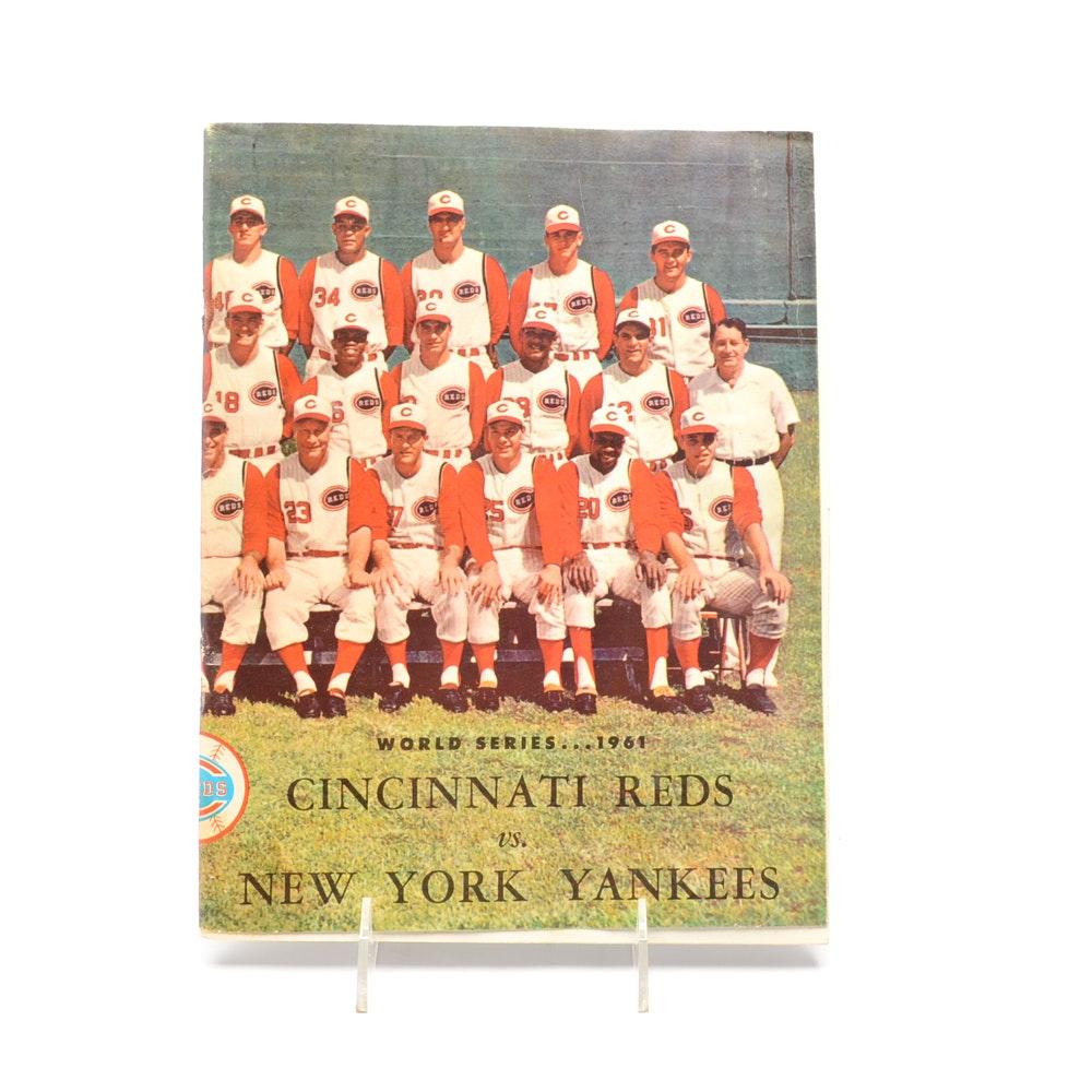 1961 World Series Baseball Program Played At Crosley