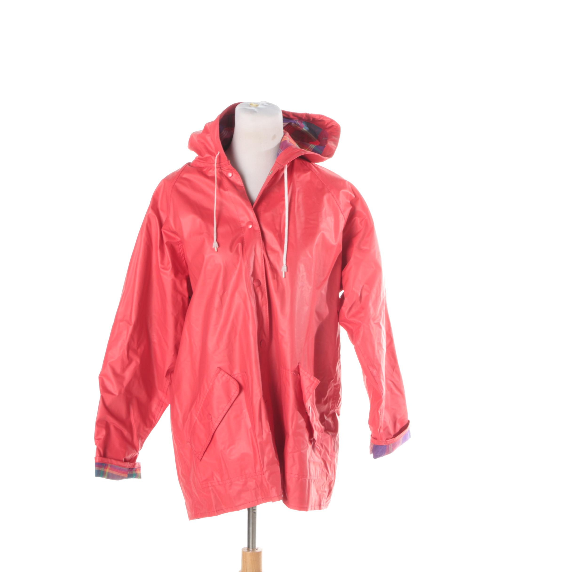 Talbots Raincoat with Plaid Cotton Lining