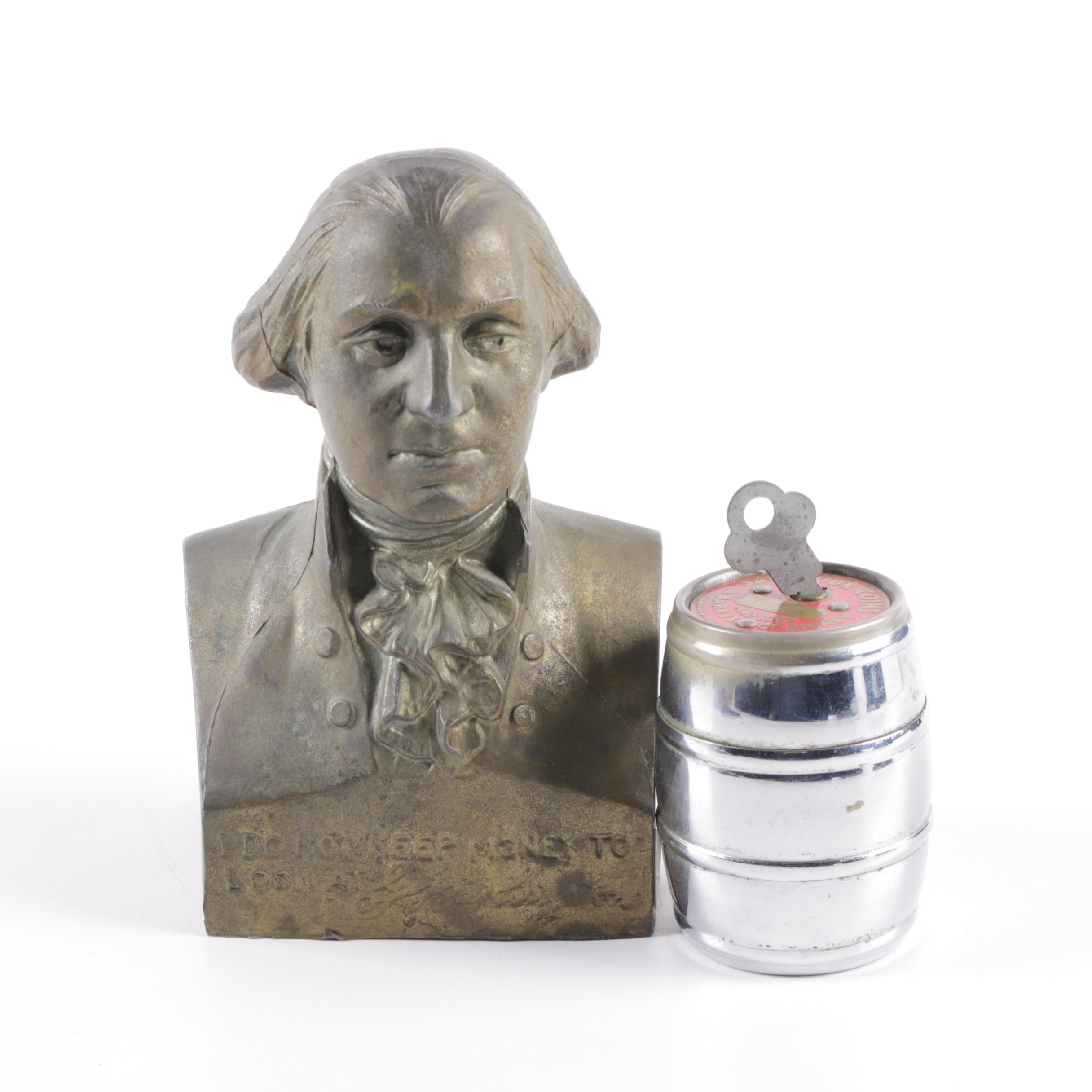 Vintage George Washington Bust Coin Bank