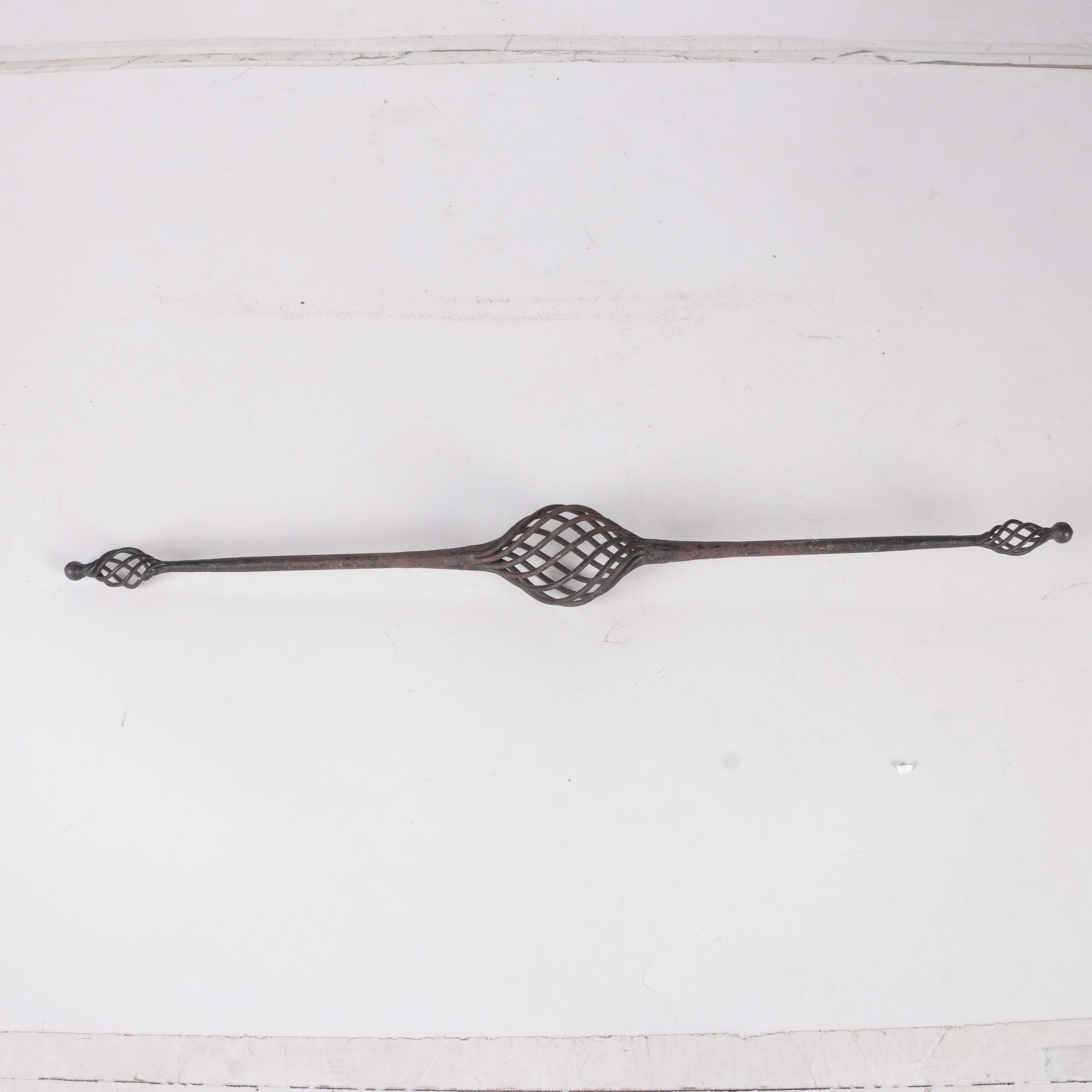 Cast Iron Curtain Rod