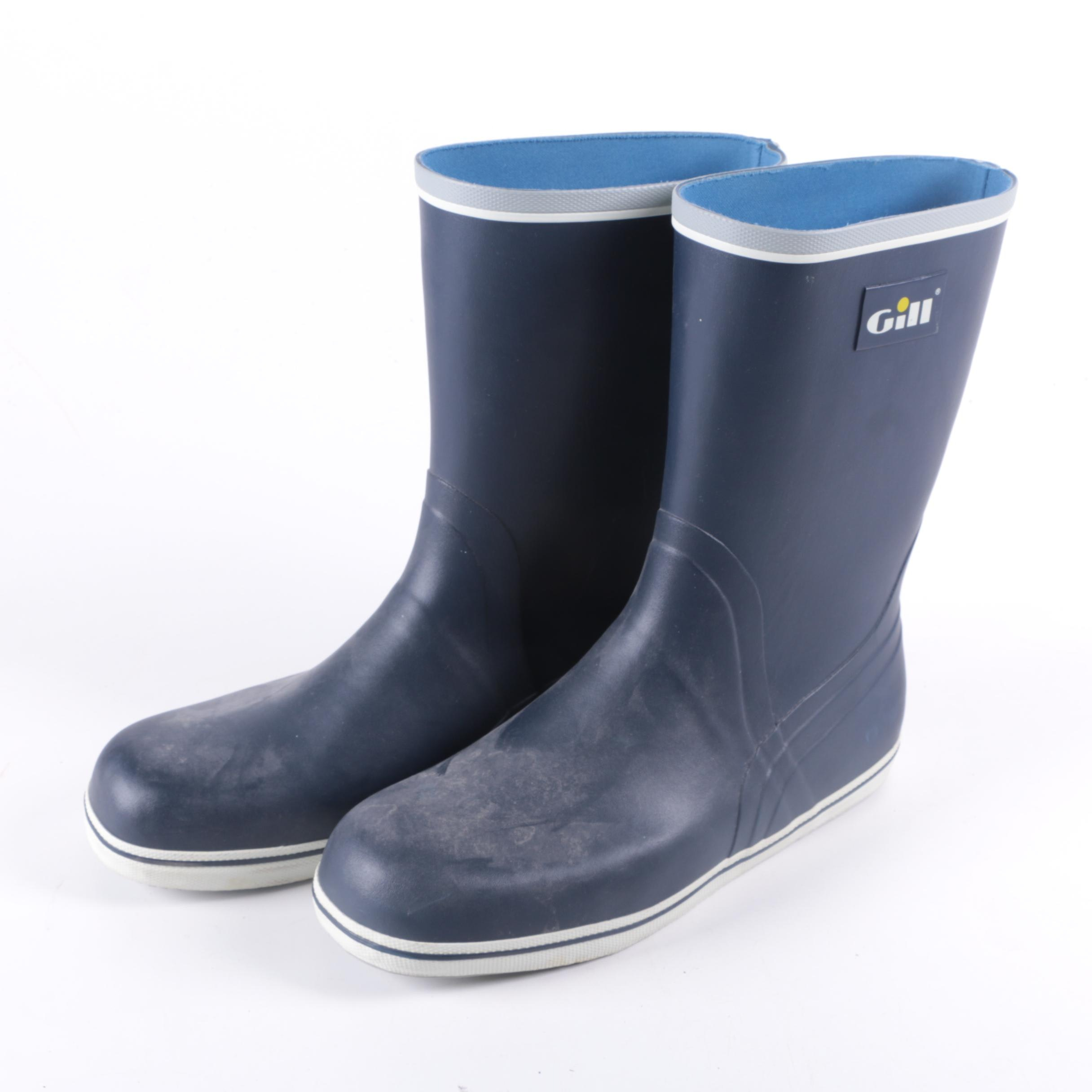 Gill Mens Navy Blue Rain Boots