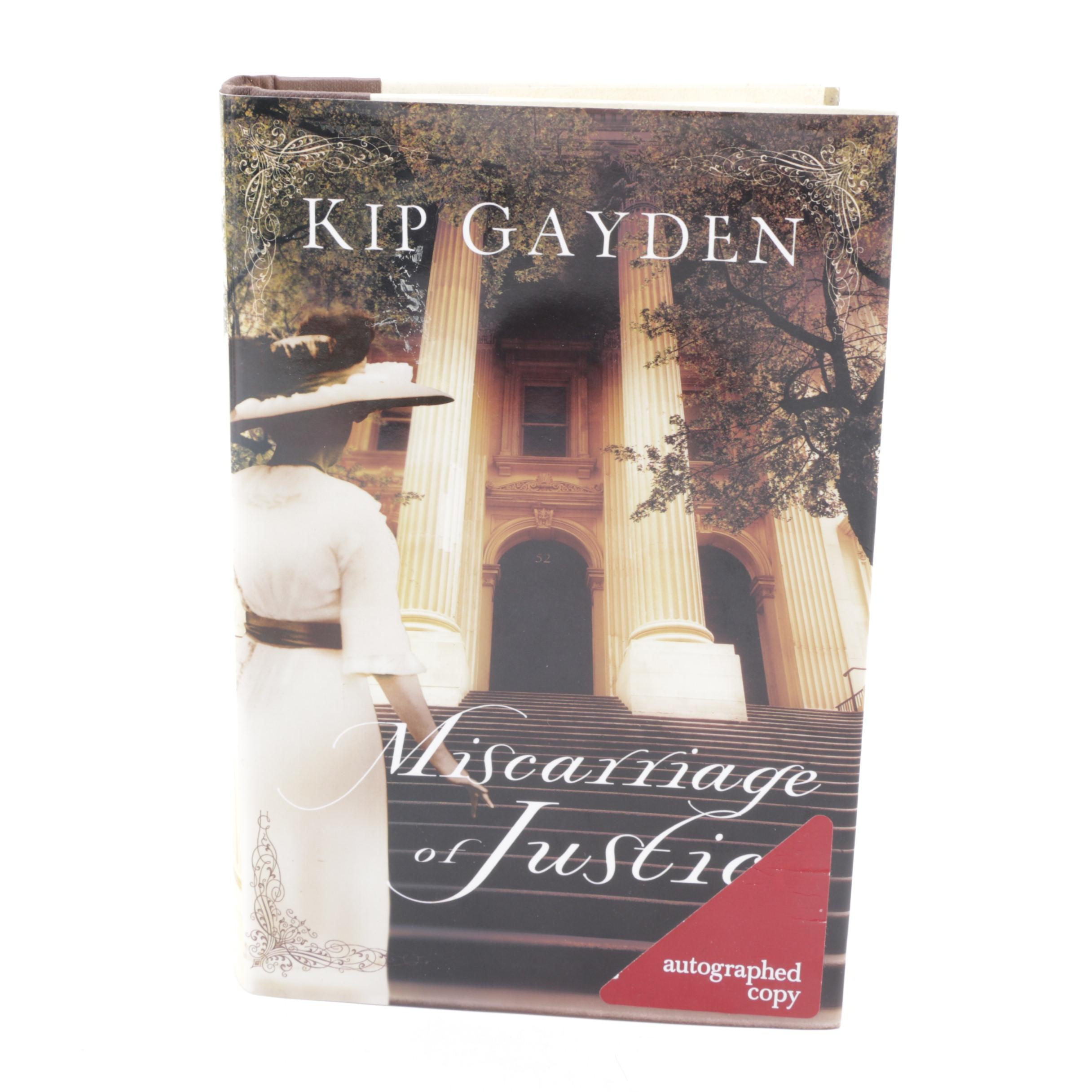 """Kip Gayden Autographed """"Miscarriage of Justice"""""""