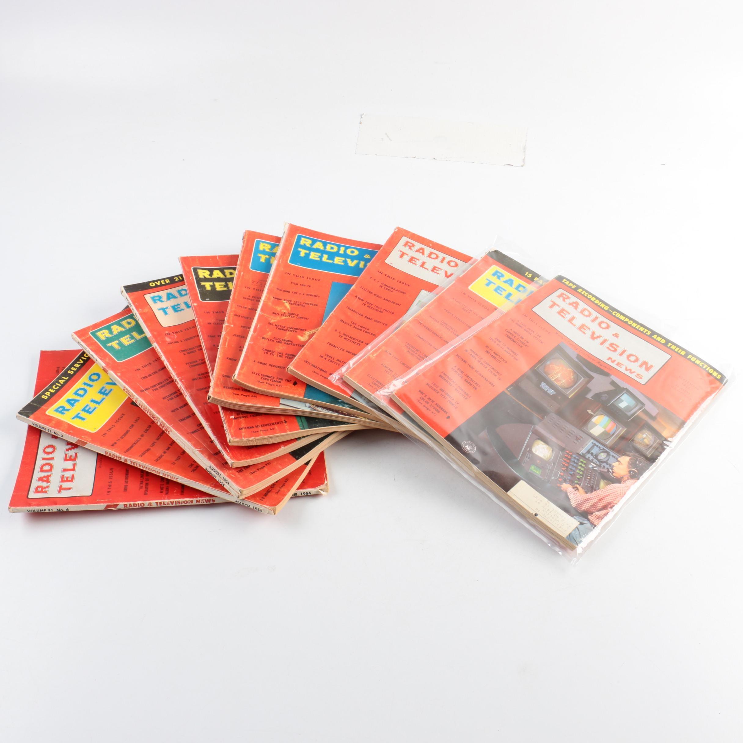 "Collection of ""Radio & Television News"" Magazines"