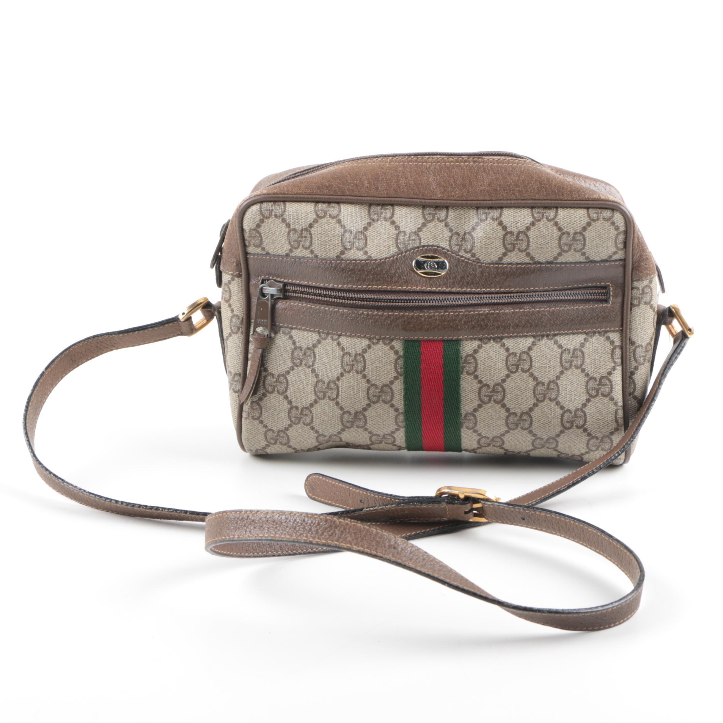 Gucci Monogram Coated Canvas Handbag
