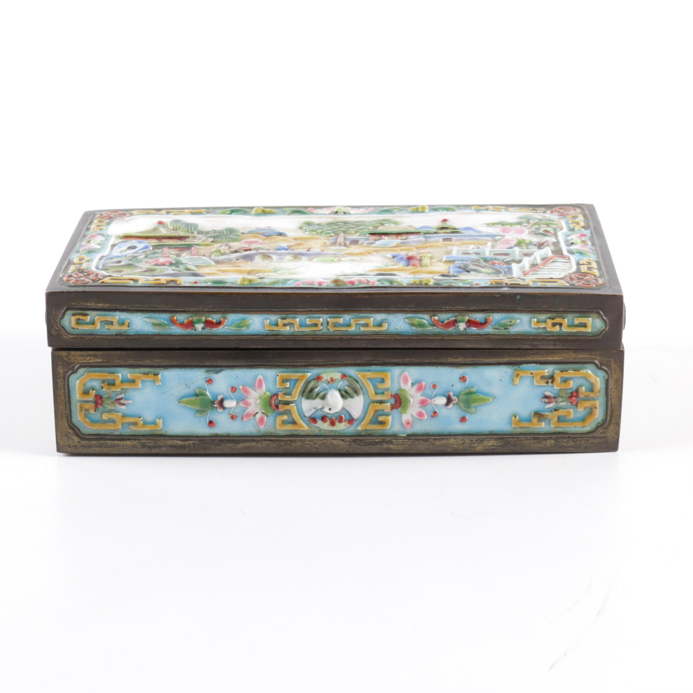 Chinese Enameled Jewelry Casket