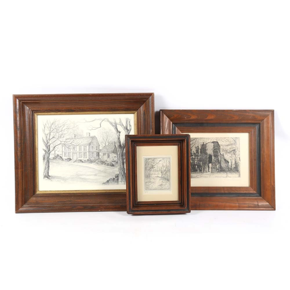 Vintage Etchings and Sketches