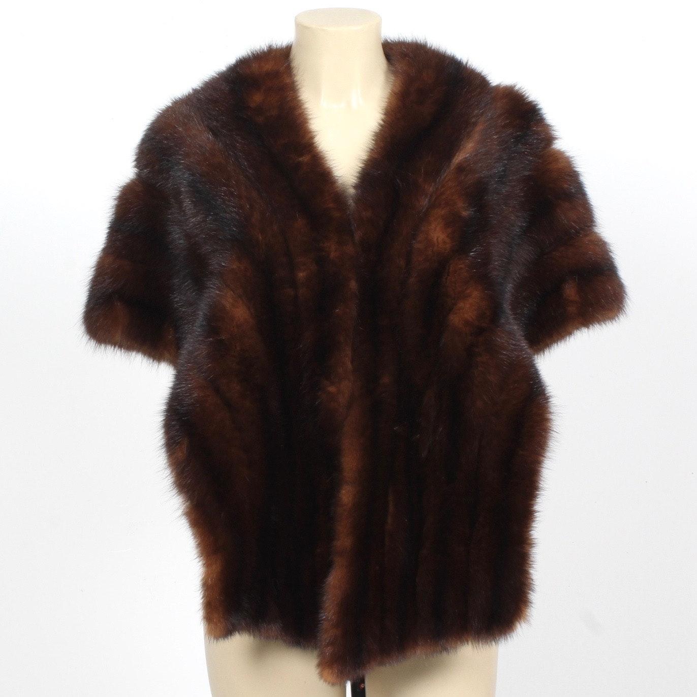 Futaba Dyed Marten Fur Stole