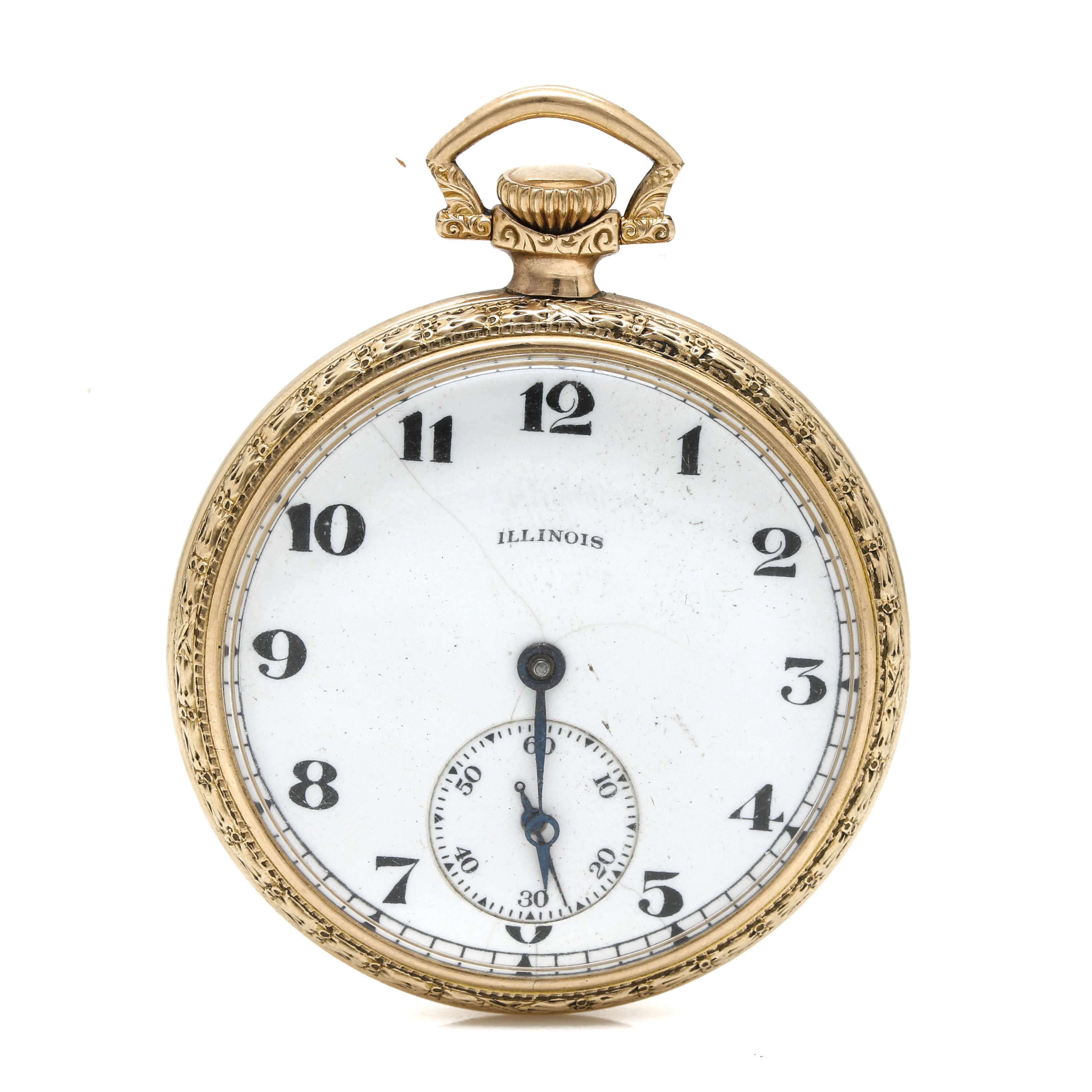 Antique Illinois Open Face Pocket Watch