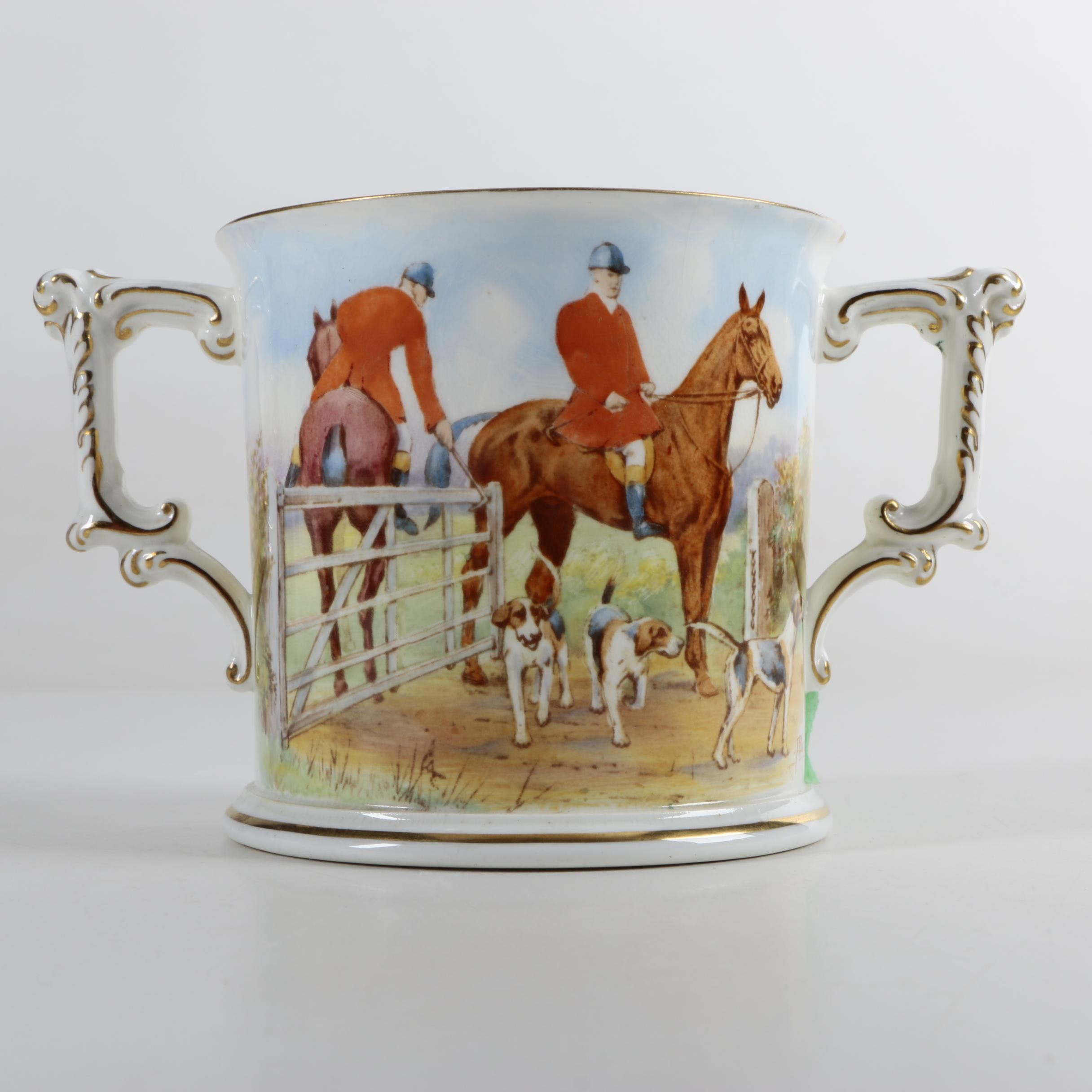 Royal Crown Derby Porcelain Loving Cup