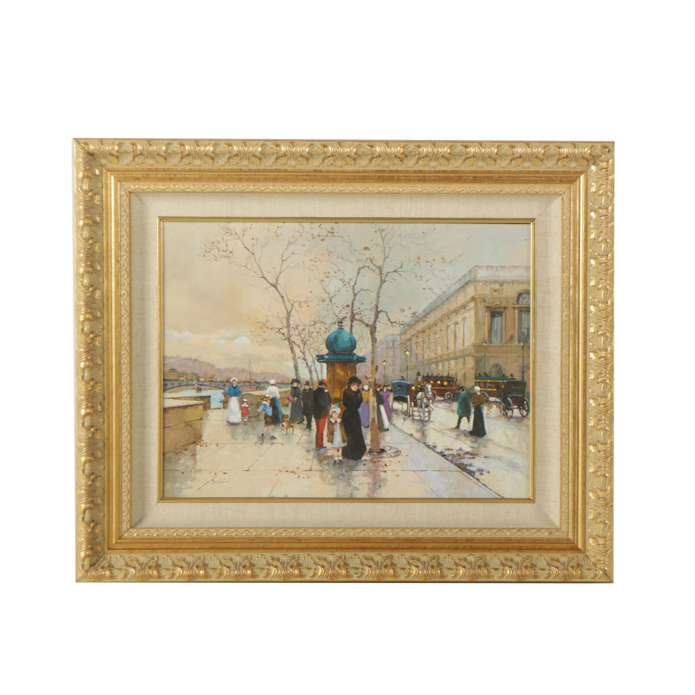 Sue Lebron Original Oil Painting on Canvas