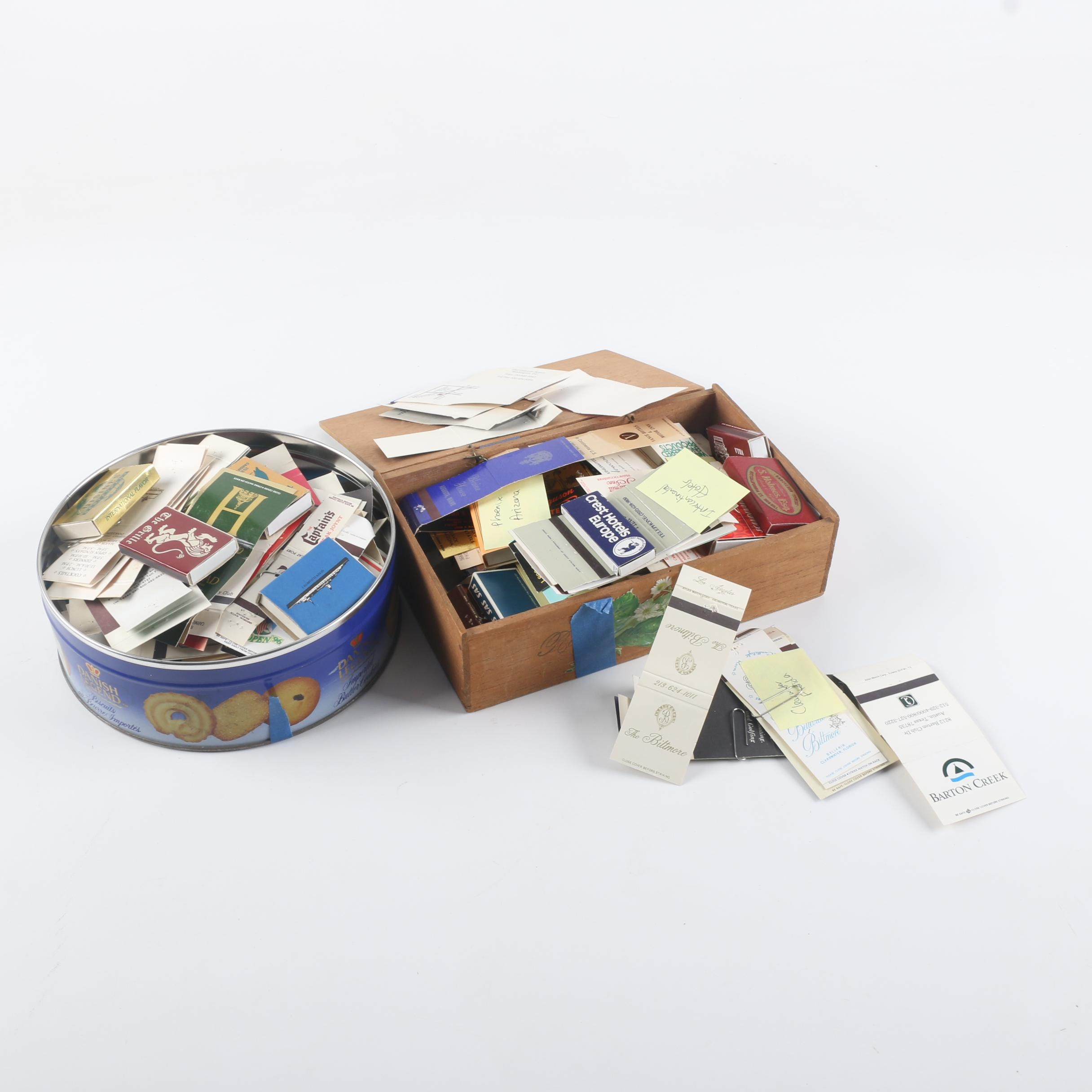 Containers Of Empty Matchbook Covers