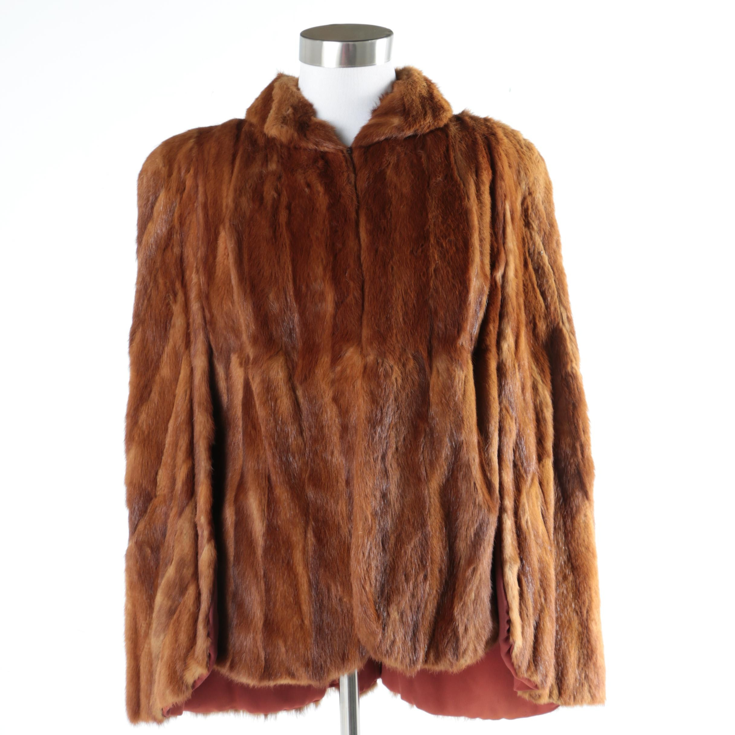 Women's Vintage Landers-Pearlman Fur Co. Dyed Squirrel Cape