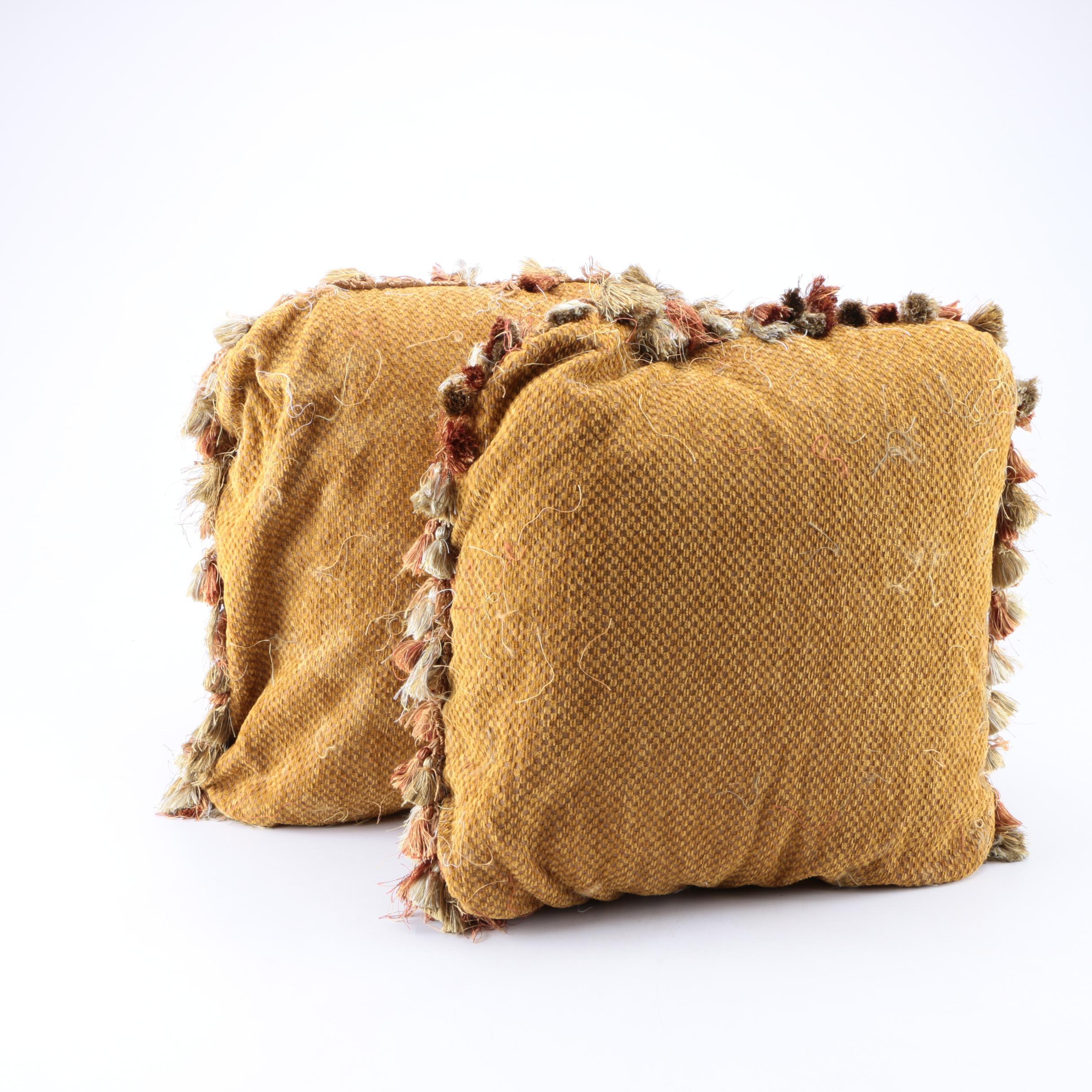 Pair of Matching Throw Pillows