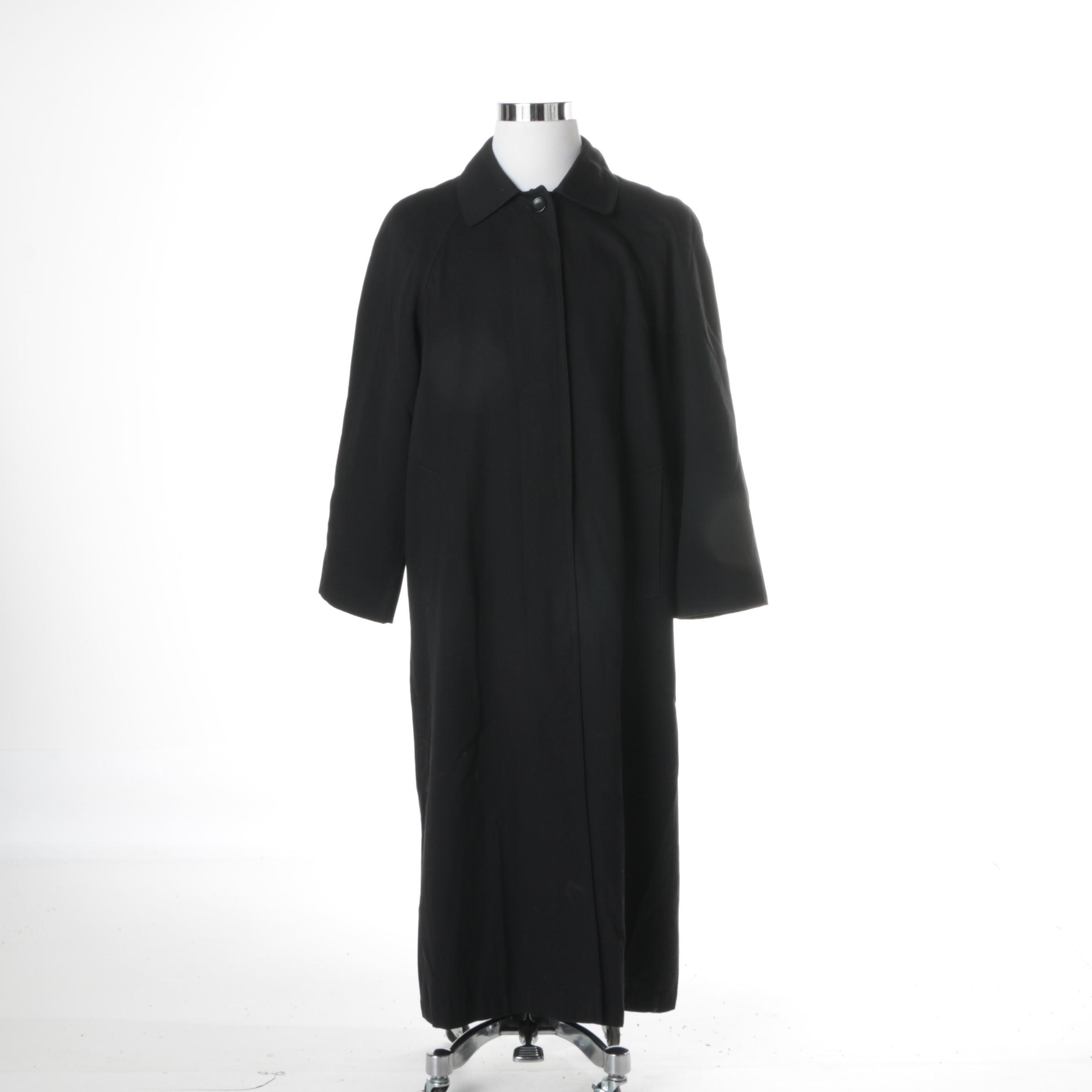 London Fog Black Trench Style Coat