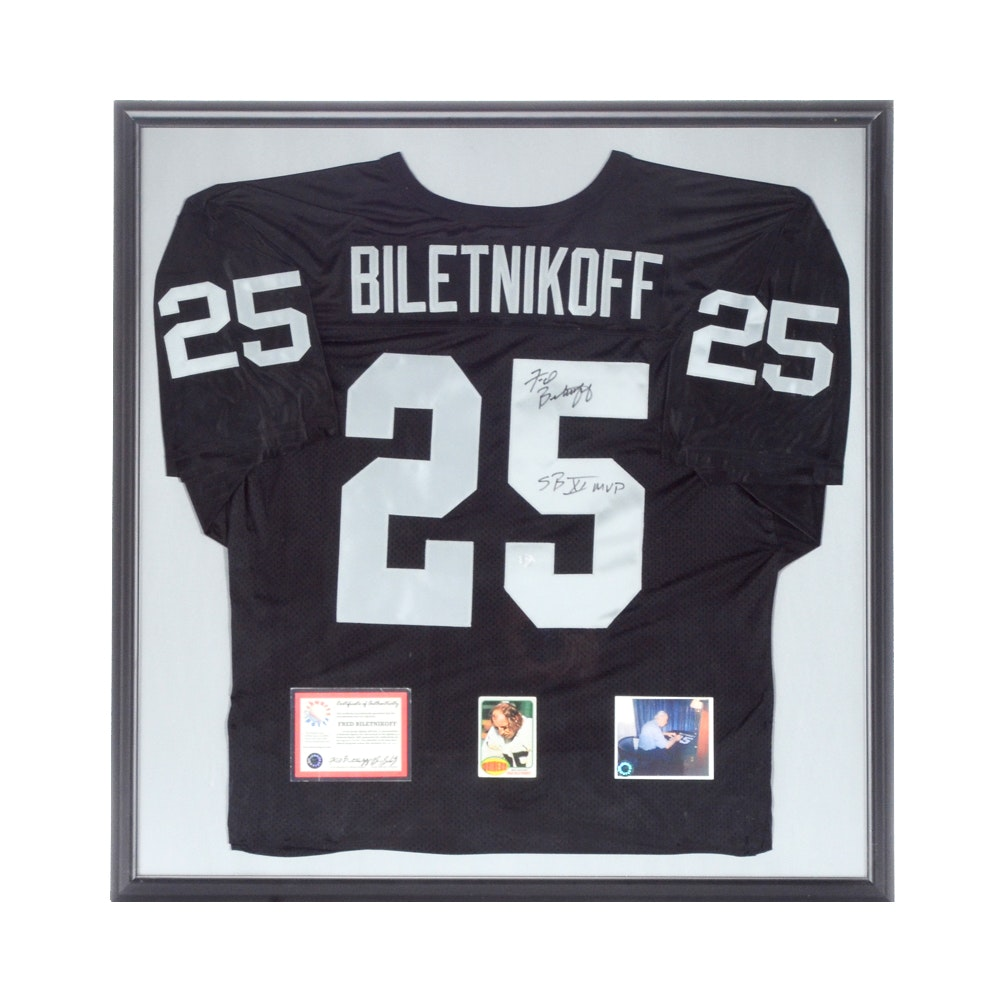 Fred Biletnikoff Autographed Jersey Display  COA