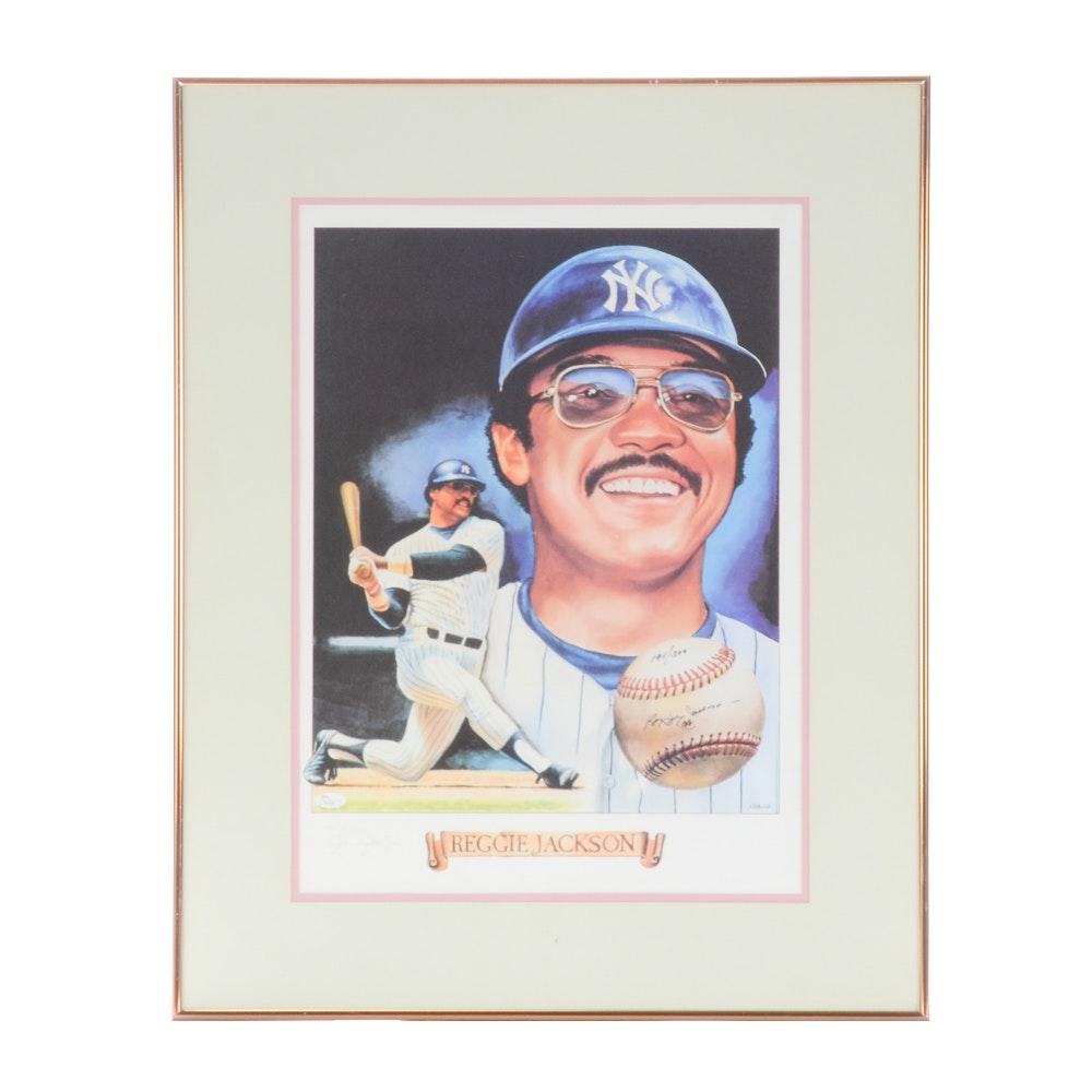 Reggie Jackson Autographed Limited Print  COA