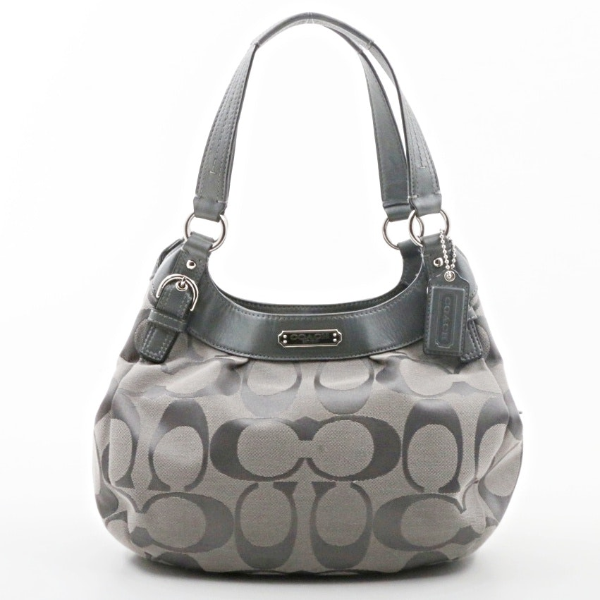 Coach Grey Soho Signature Hobo Handbag
