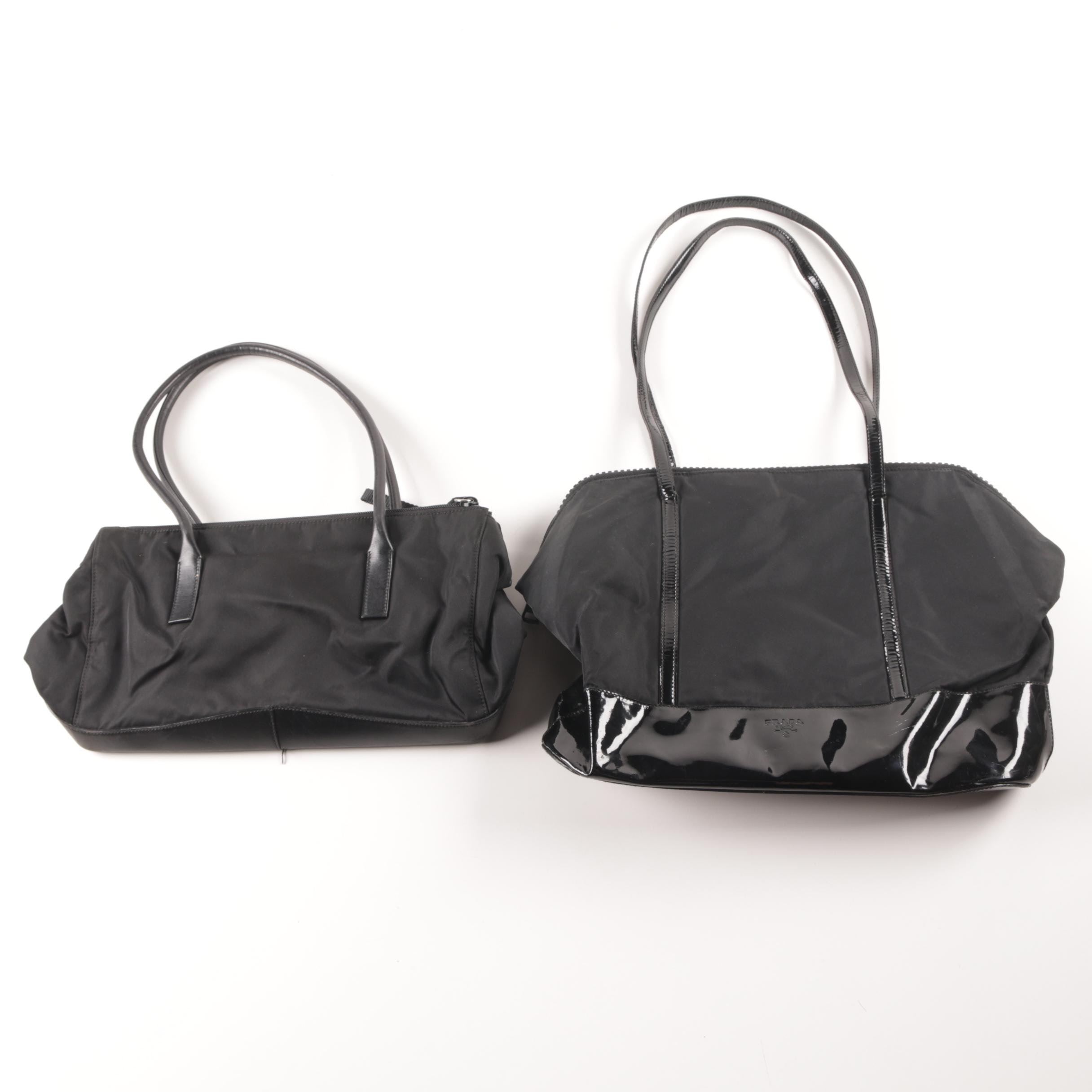 Prada Black Nylon Bags