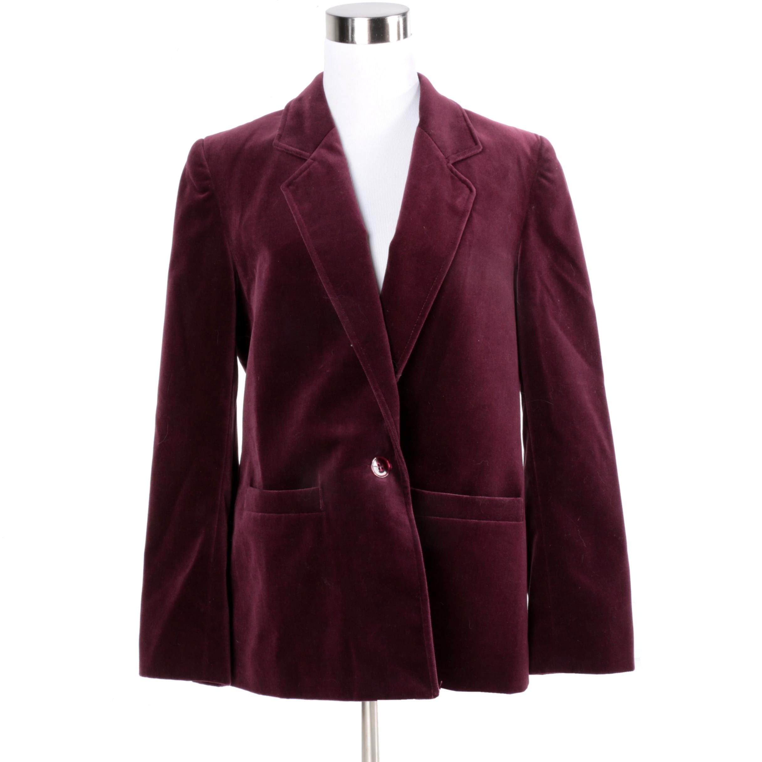 Women's Koret Burgundy Suit Jacket