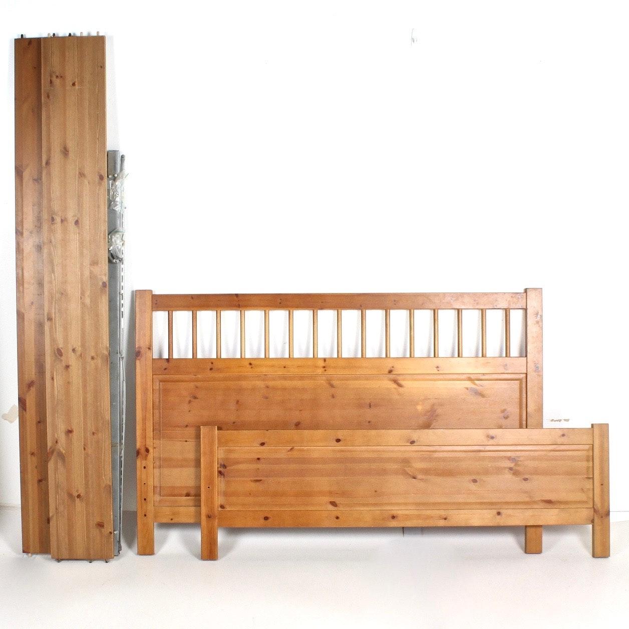 """IKEA """"Hemnes"""" Pine Queen Size Bed"""