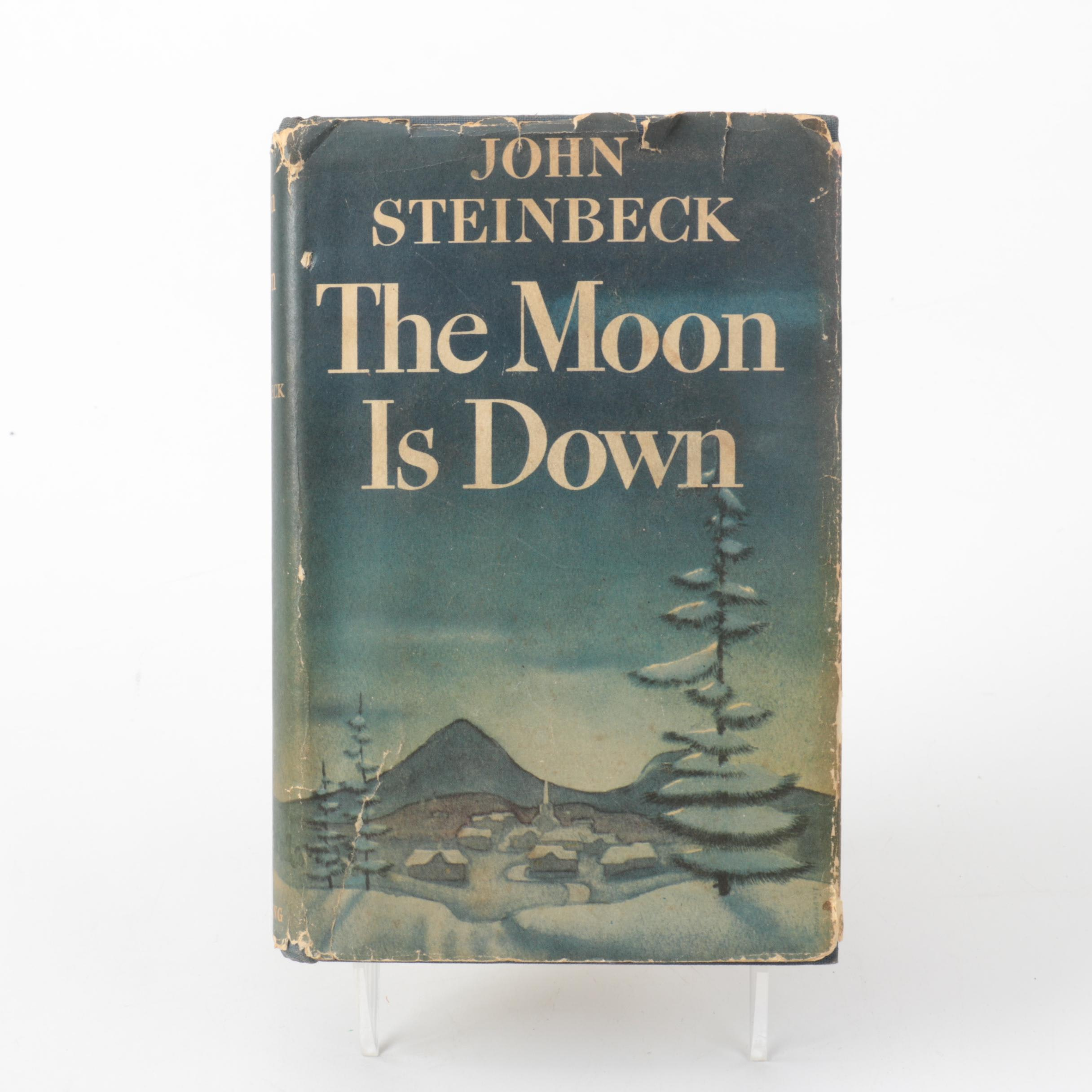 """1942 First Edition """"The Moon is Down"""" by John Steinbeck"""