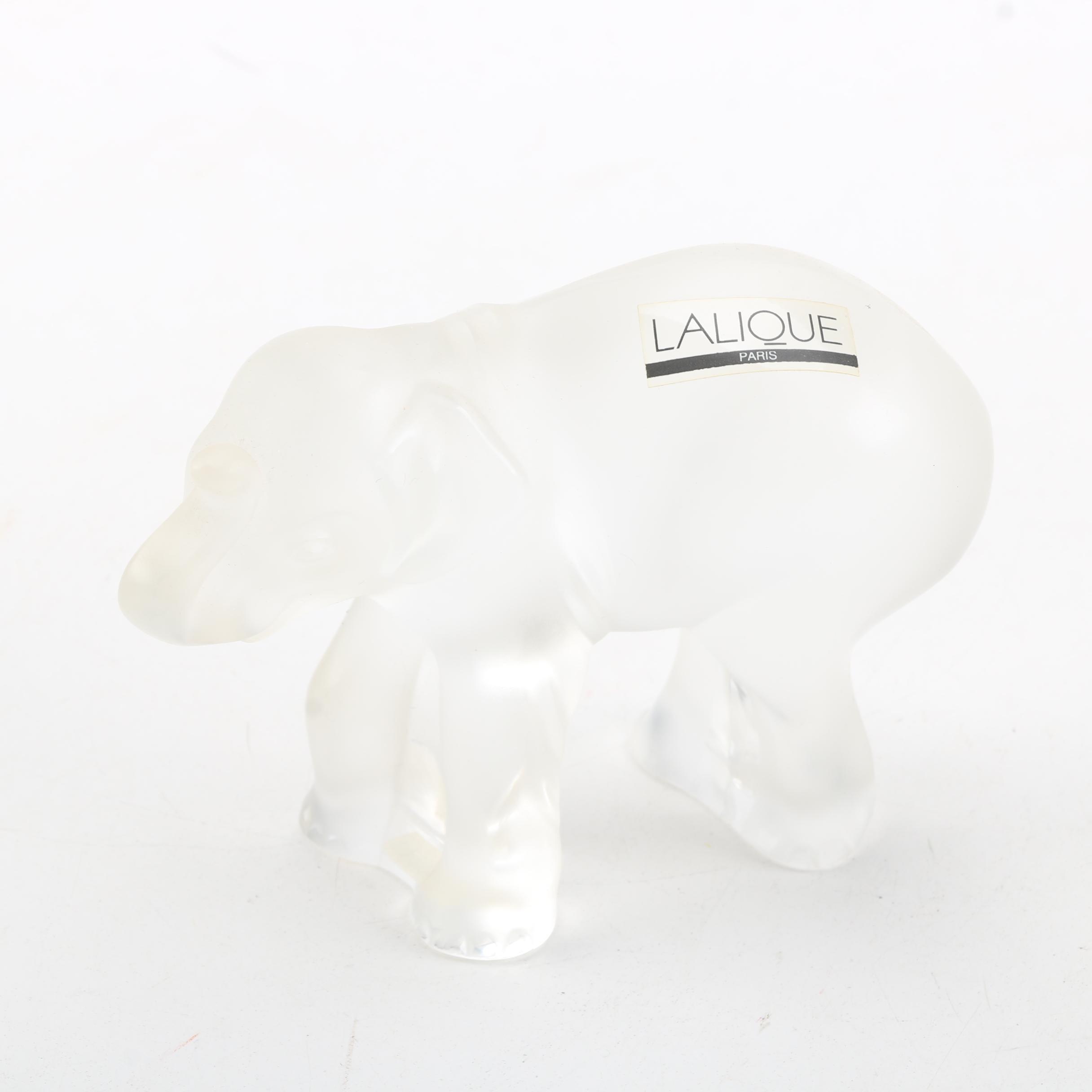 "Lalique ""Timori"" Crystal Elephant Figurine"