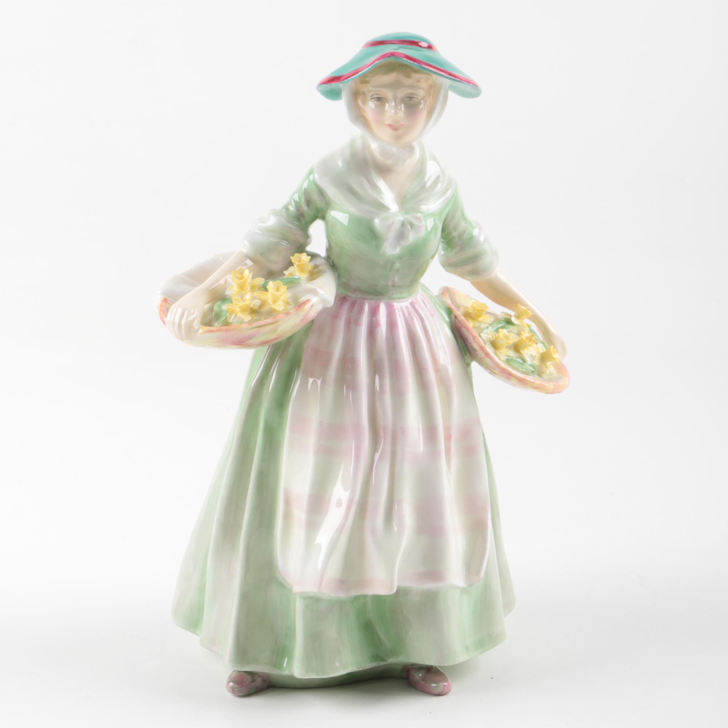 "Royal Doulton ""Daffy Down Dilly"" Figurine"