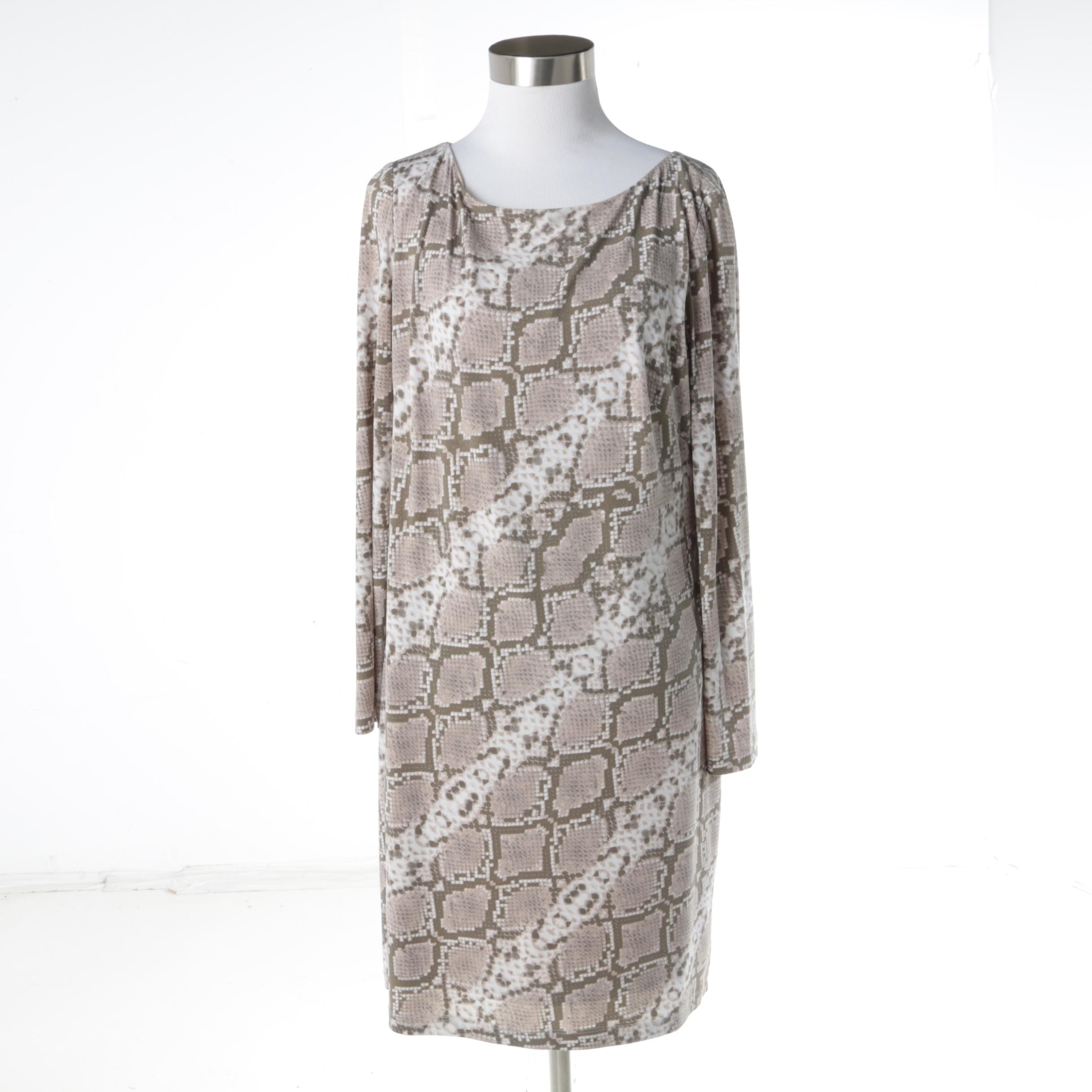 Vince Camuto Snakeskin Print Shift Dress
