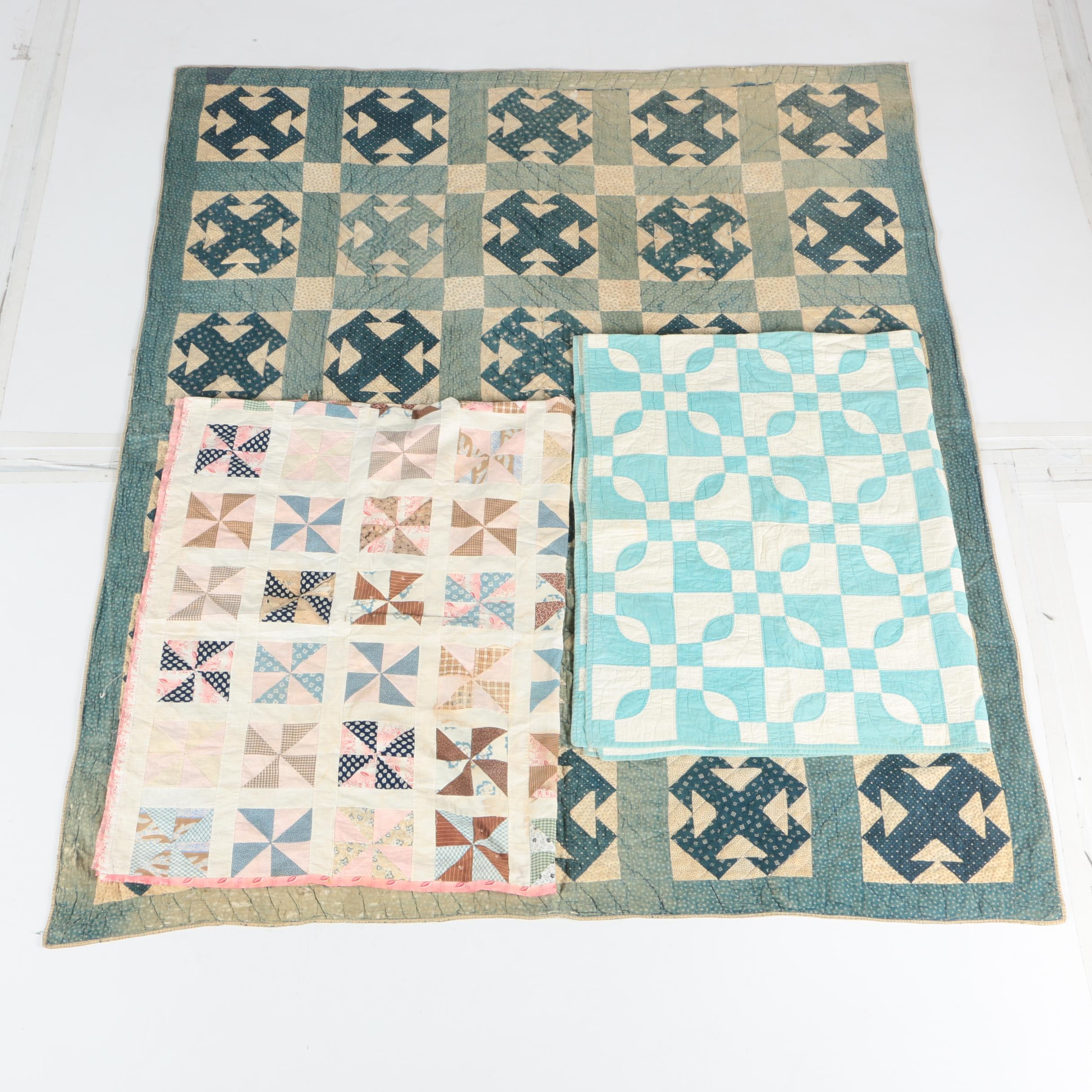 Antique and Vintage Handmade Quilts and Quilt Top