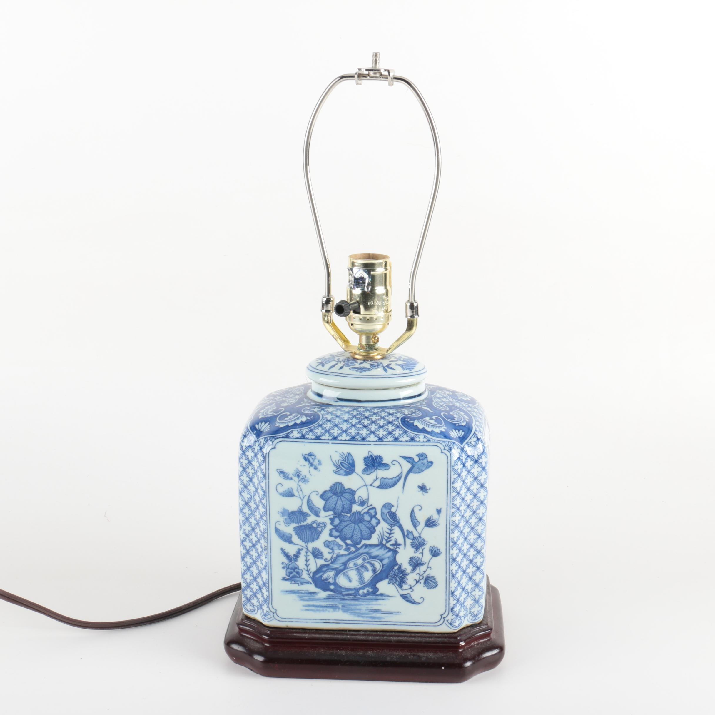 Blue and White Chinese Style Table Lamp