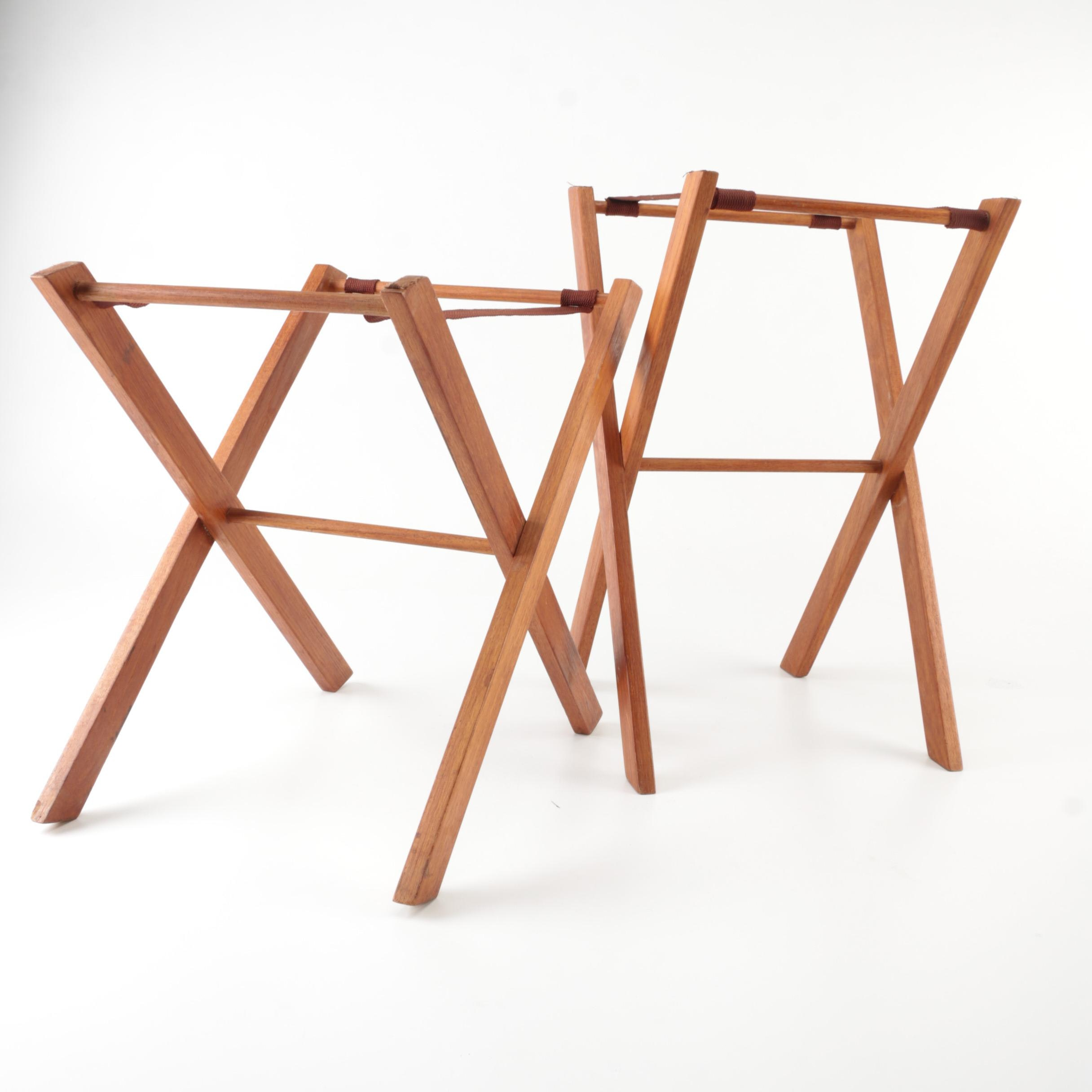 Wooden Luggage Stands