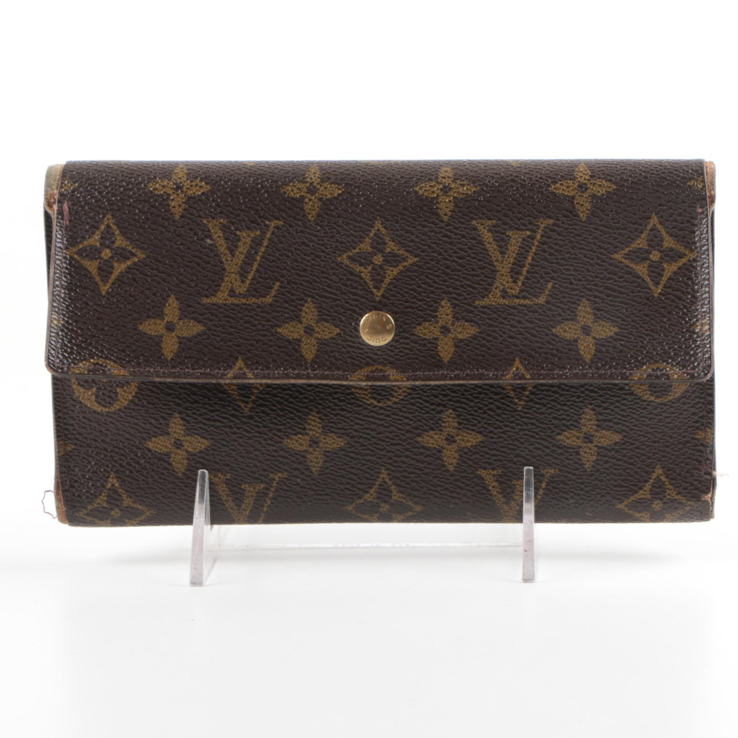 Louis Vuitton of Paris Signature Monogram Canvas Clutch Wallet