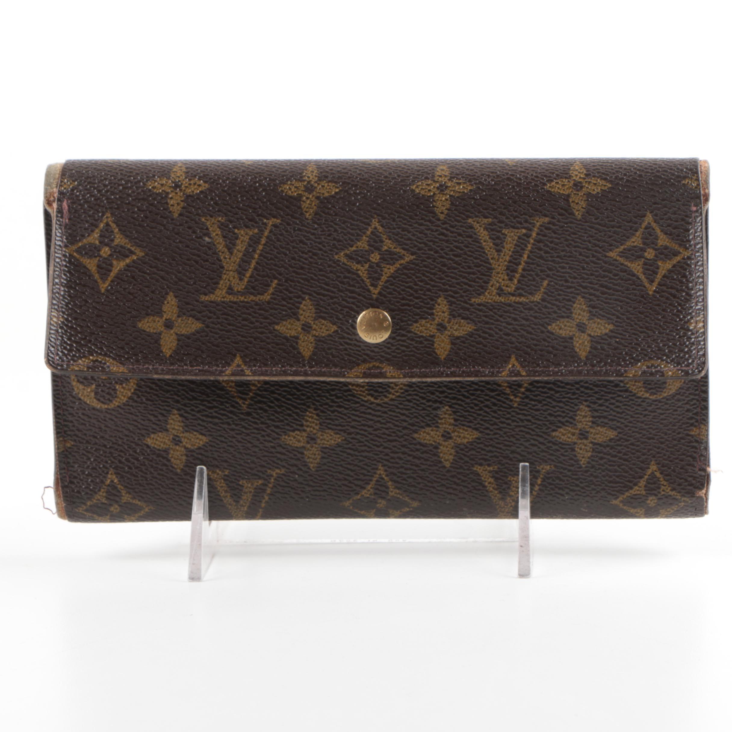 Louis Vuitton of Paris Signature Monogram Canvas Clutch Wallet