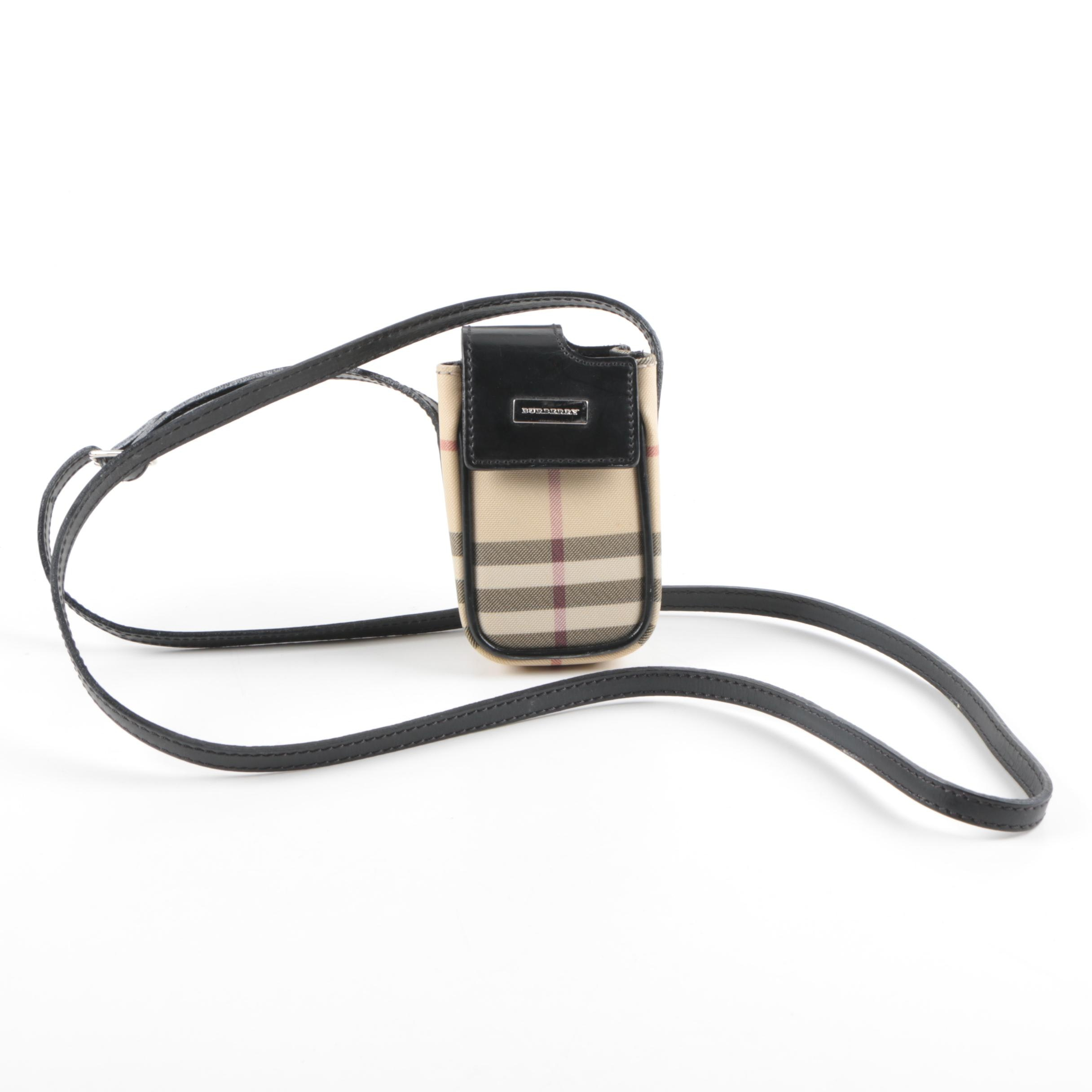 Burberry Cross-Body Cell Phone Pouch