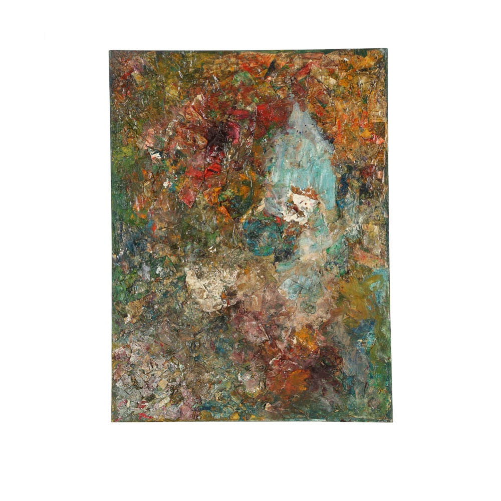 Louis Papp Mixed Media Painting on Canvas Abstract Composition
