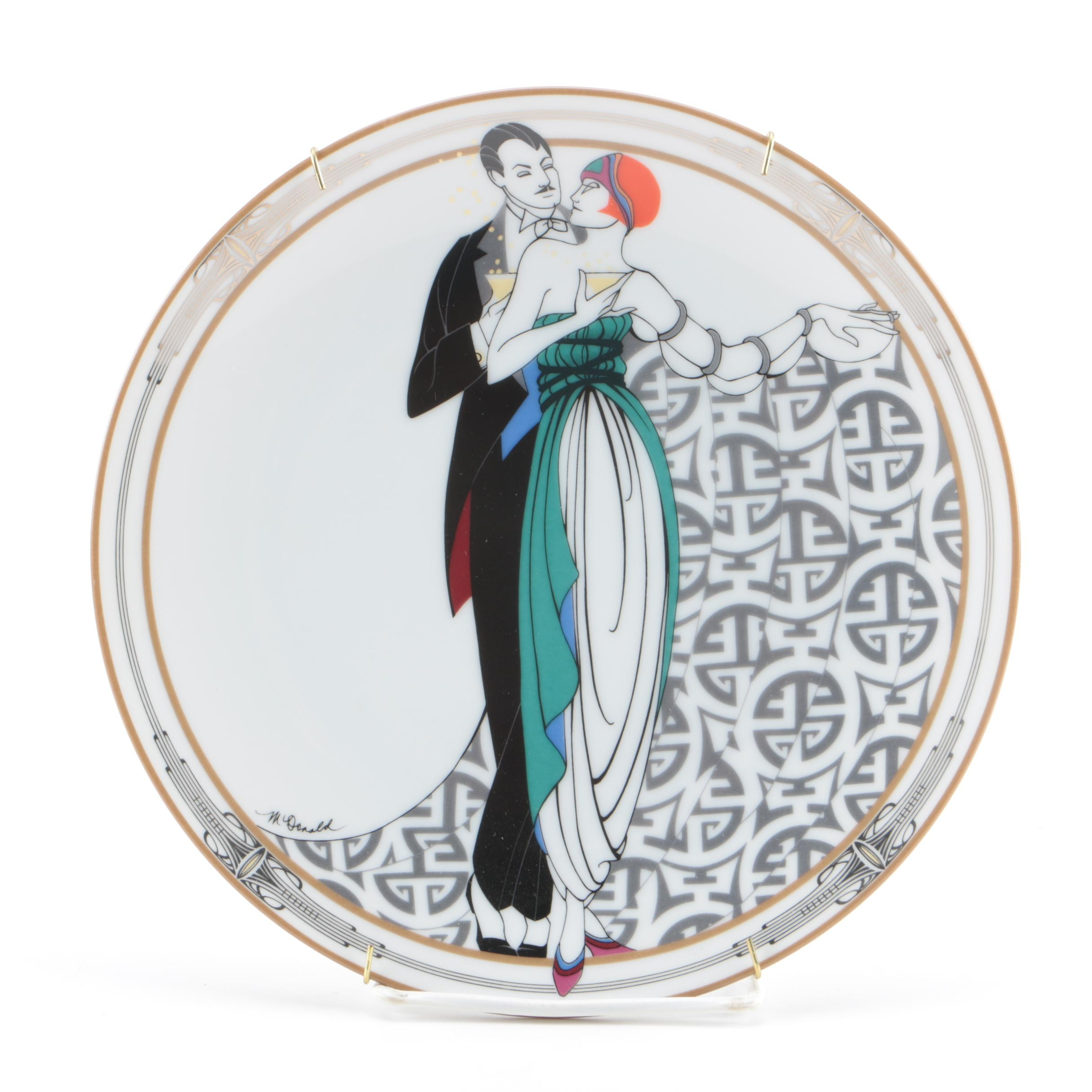 """1991 Limited Edition """"On the Town"""" Porcelain Collector Plate"""