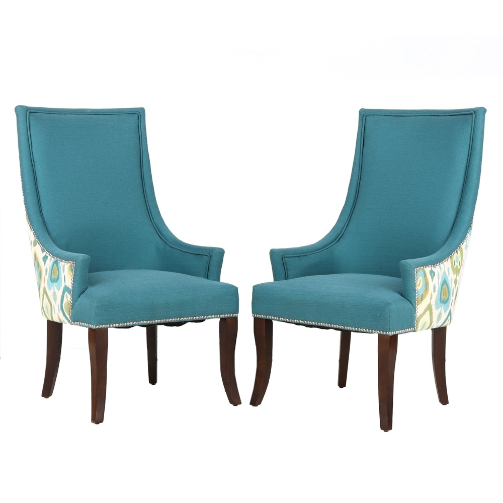 Pair of Modern Style Accent Chairs